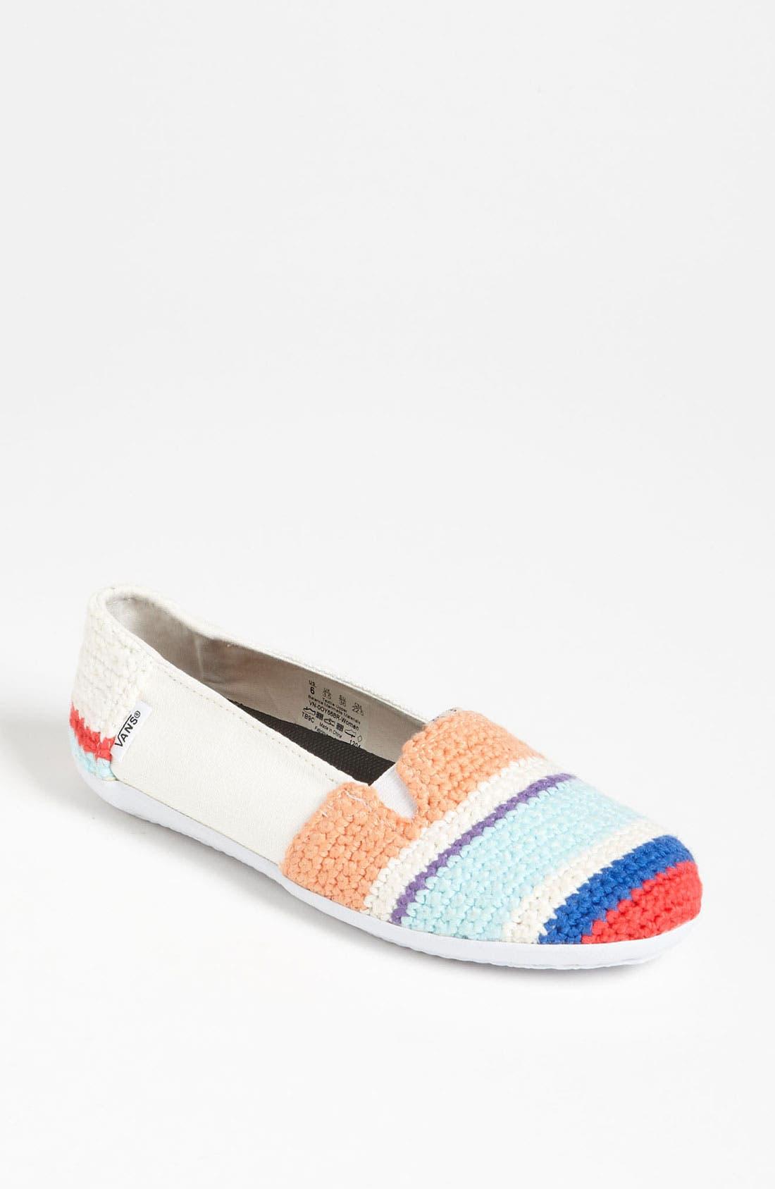 Main Image - Vans + Krochet Kids 'Bixie' Crochet Slip-On