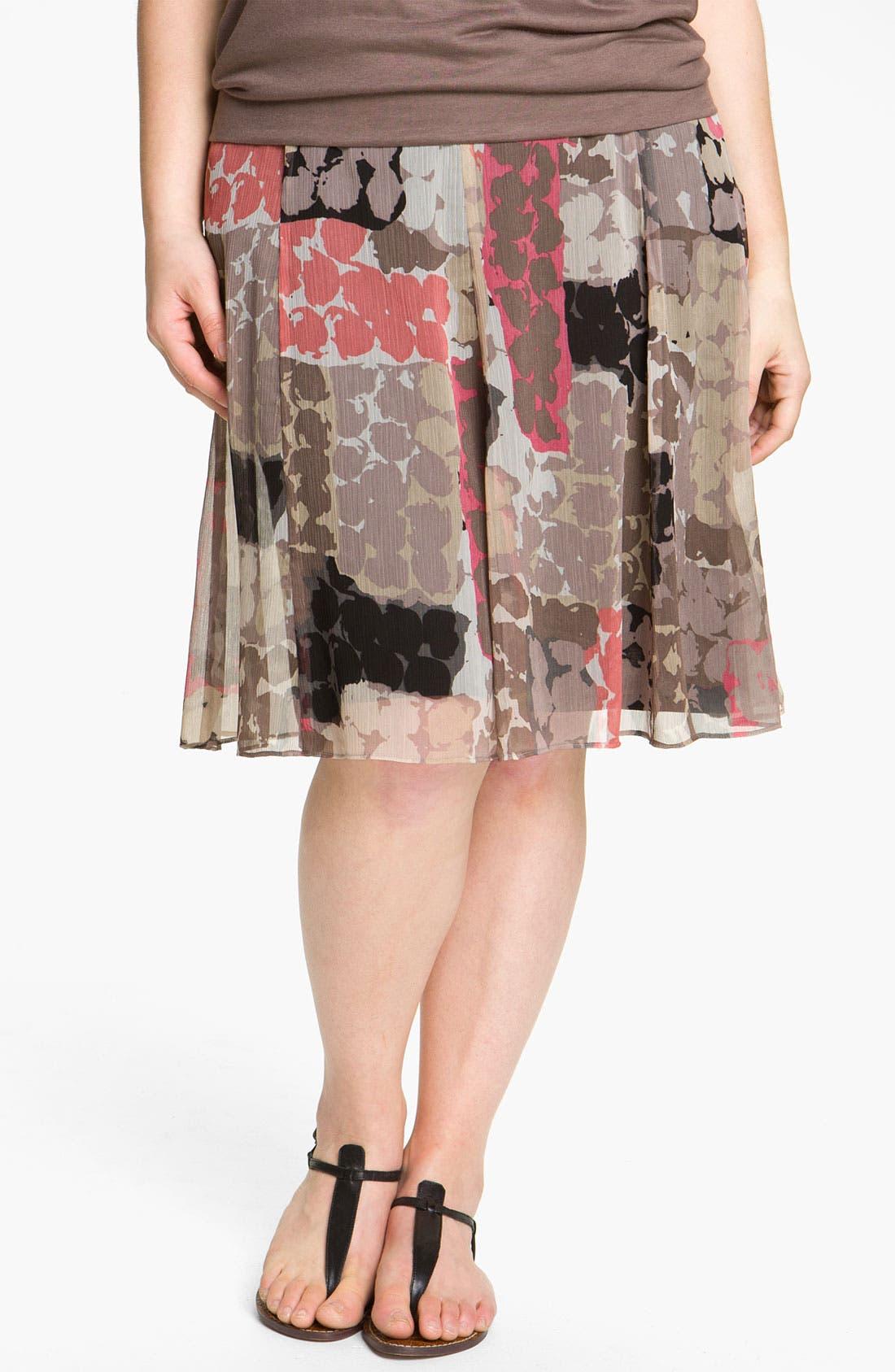 Main Image - Nic + Zoe 'Spanish Dot Flirt' Skirt (Plus)