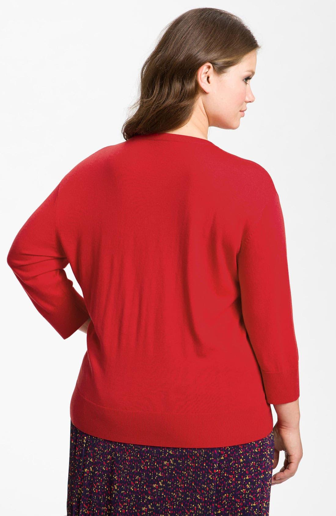 Alternate Image 2  - Sejour Drop Shoulder Sweater (Plus)
