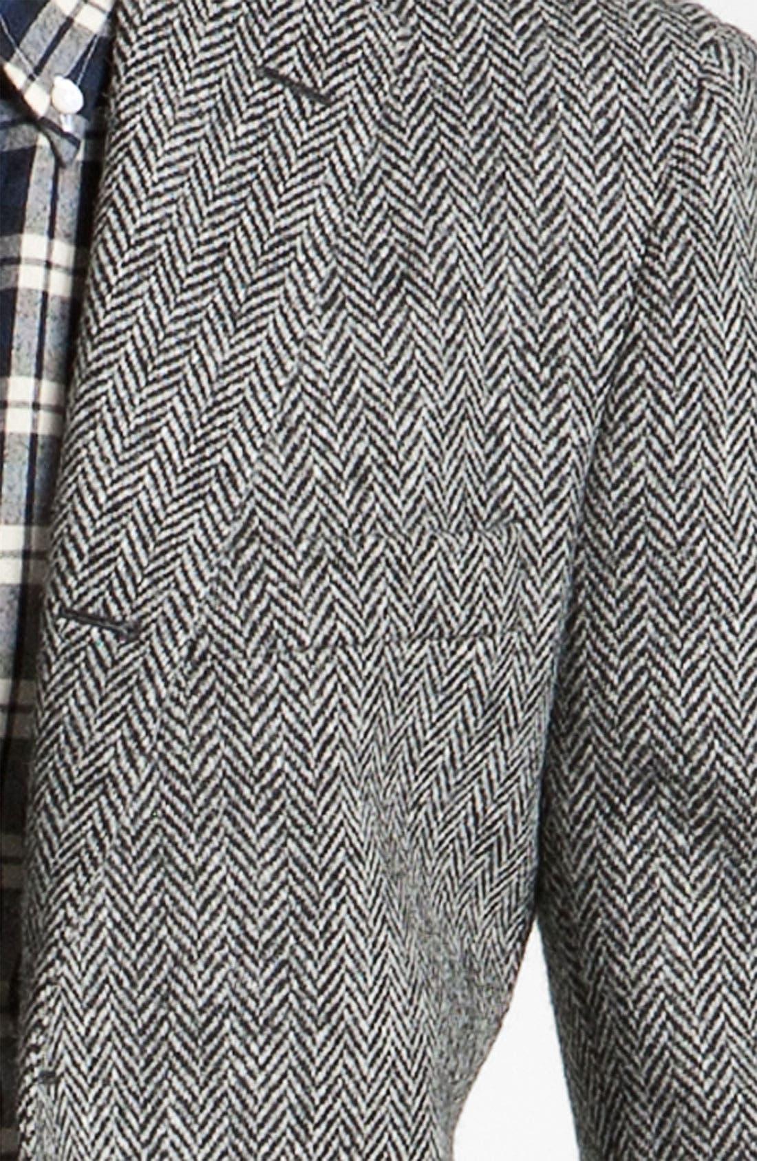Alternate Image 3  - Brooks Brothers by Jeffrey Tweed Herringbone Blazer