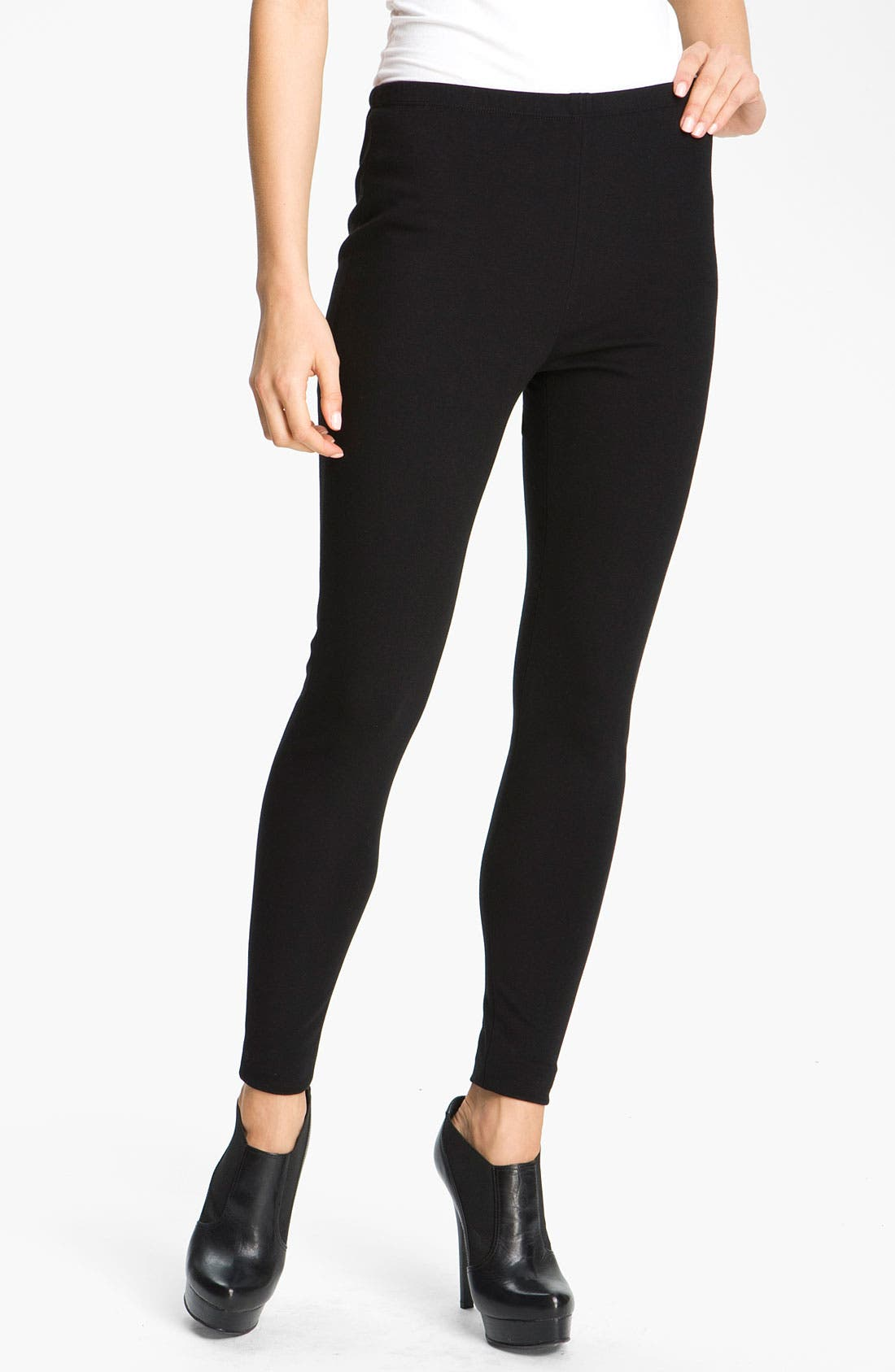 Alternate Image 1 Selected - Lafayette 148 New York Punto Milano Knit Leggings