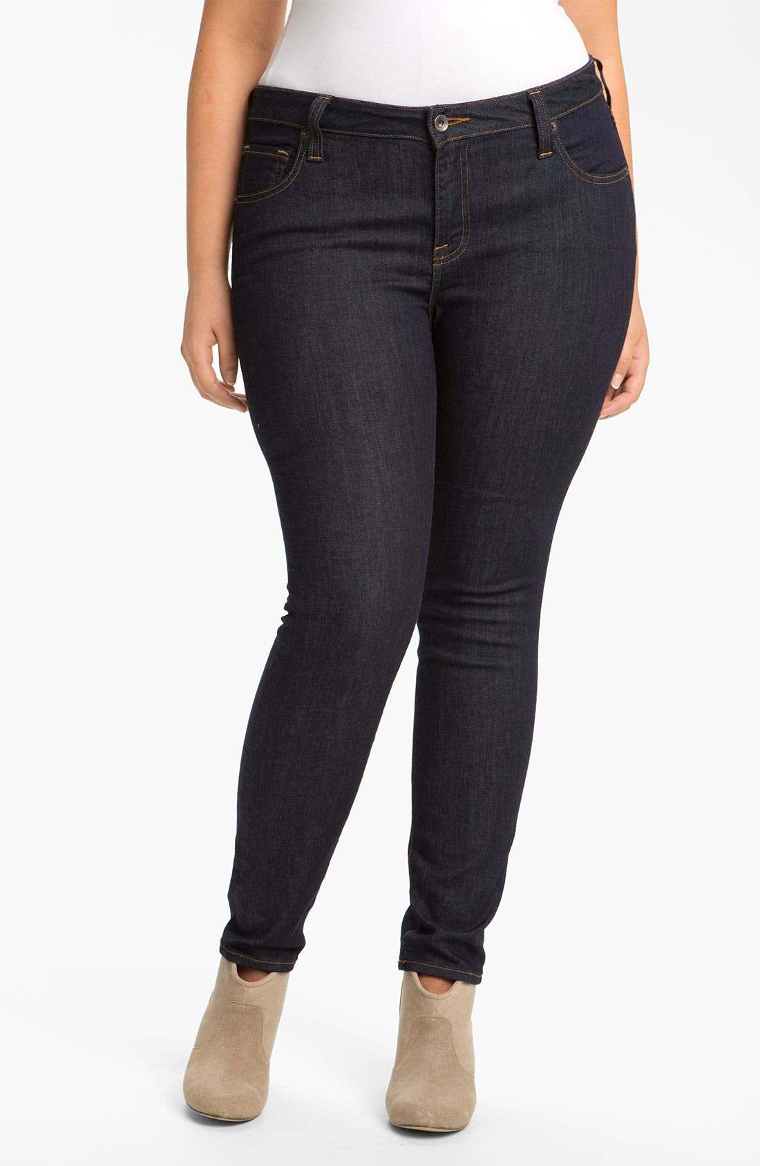 Alternate Image 2  - Lucky Brand 'Ginger' Skinny Jeans (Plus)
