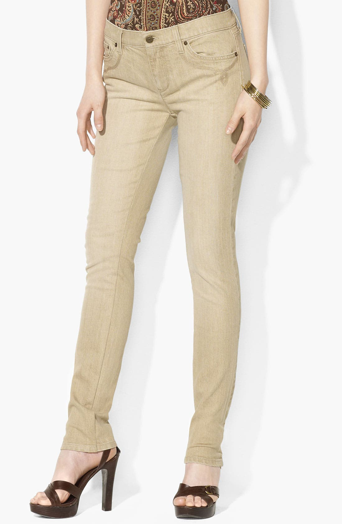 Main Image - Lauren Ralph Lauren Skinny Jeans (Petite)