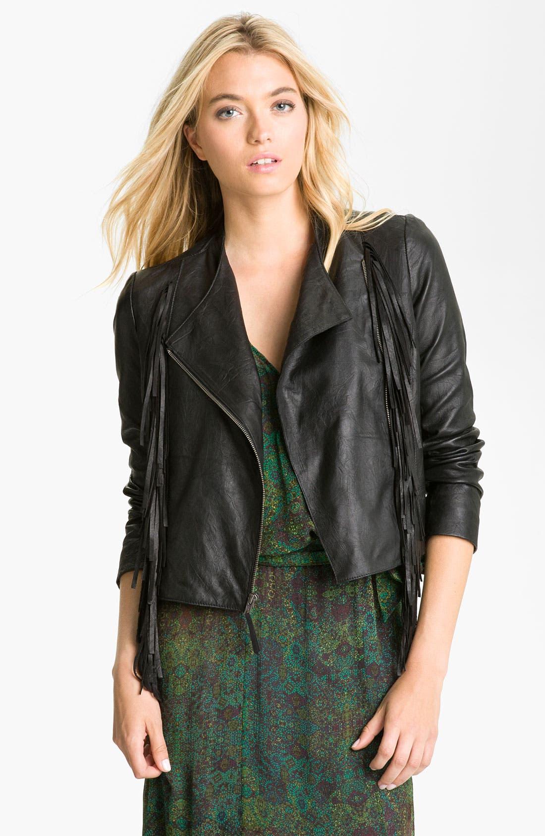 Alternate Image 1 Selected - Ella Moss 'Stevie' Lambskin Leather Jacket