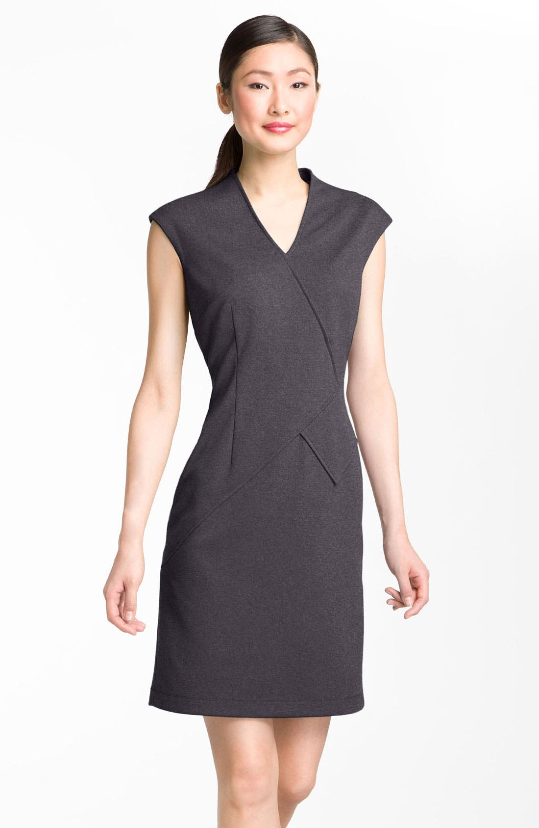 Alternate Image 1 Selected - Calvin Klein Seamed Ponte Knit Sheath Dress