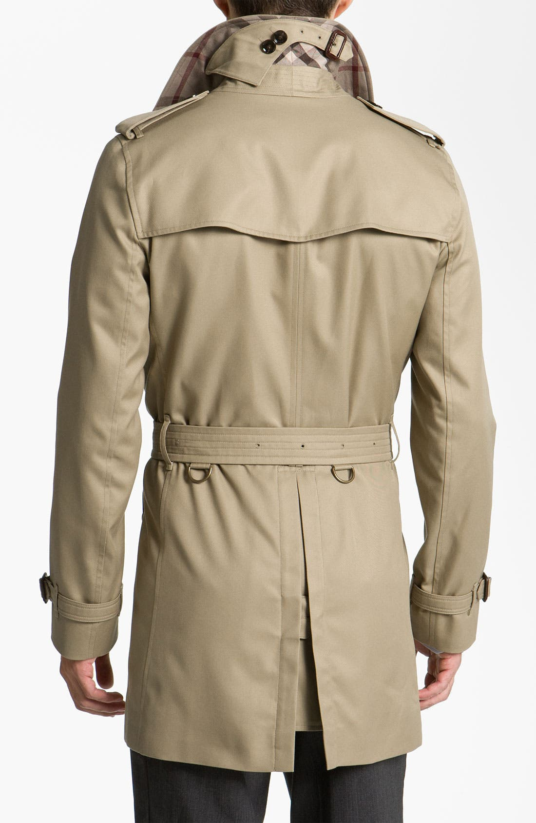 Alternate Image 2  - Burberry London Trim Fit Raincoat