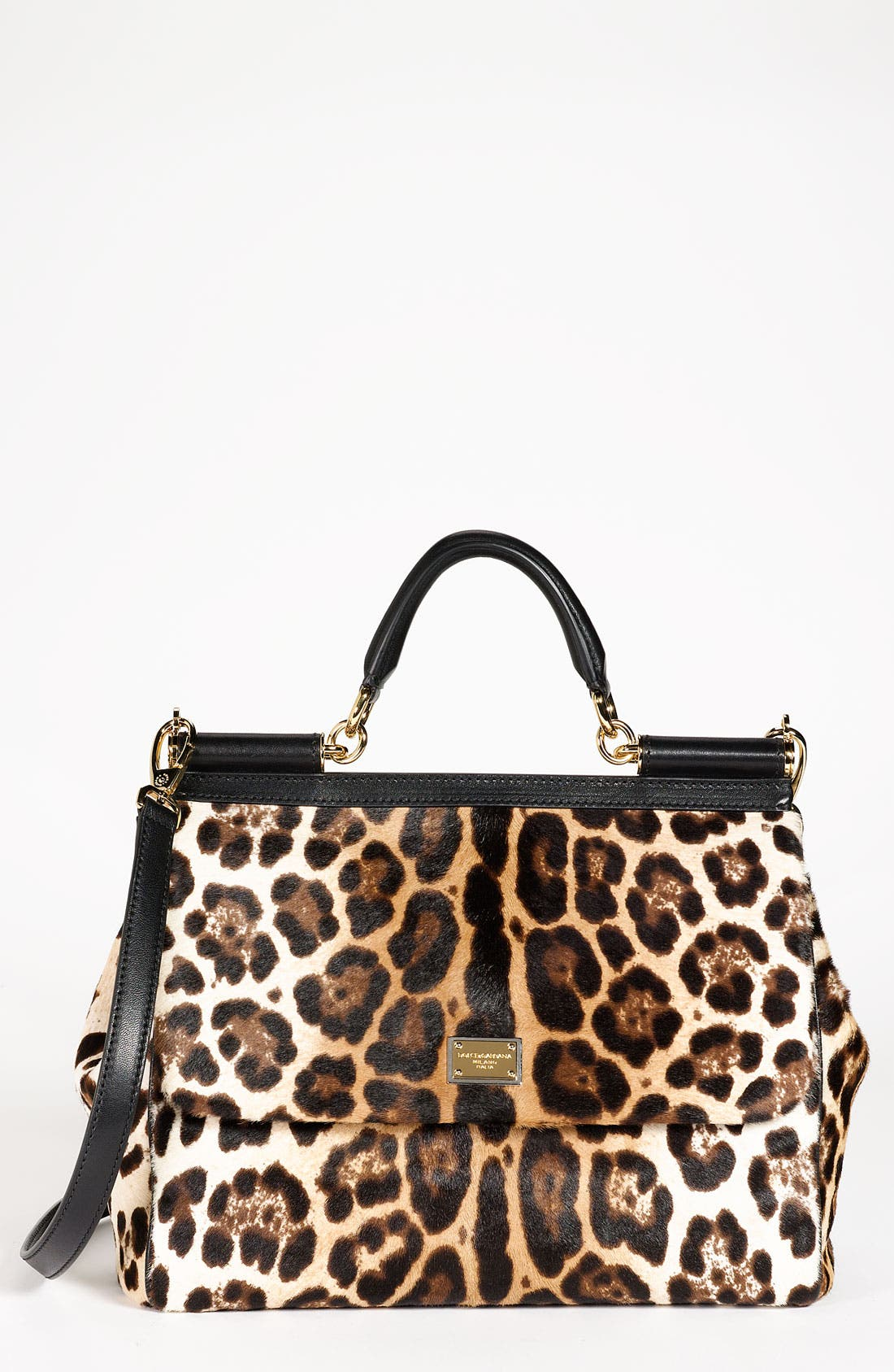 Alternate Image 1 Selected - Dolce&Gabbana 'Miss Sicily' Calf Hair & Leather Satchel