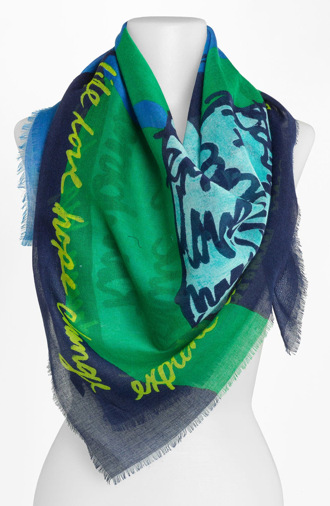 Alternate Image 1 Selected - Made of Me Script Message Scarf