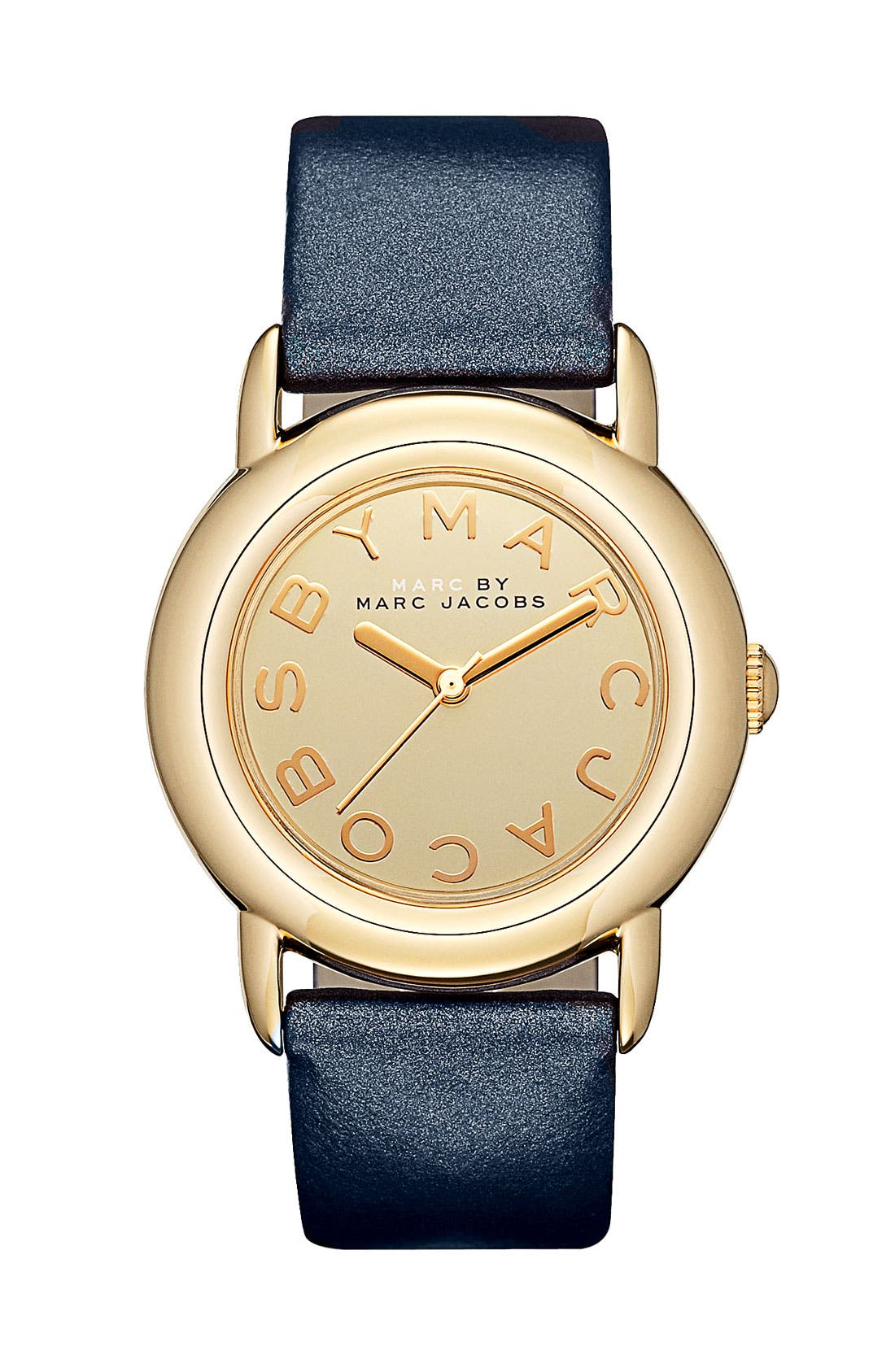 Main Image - MARC BY MARC JACOBS 'Marci' Leather Strap Watch, 33mm