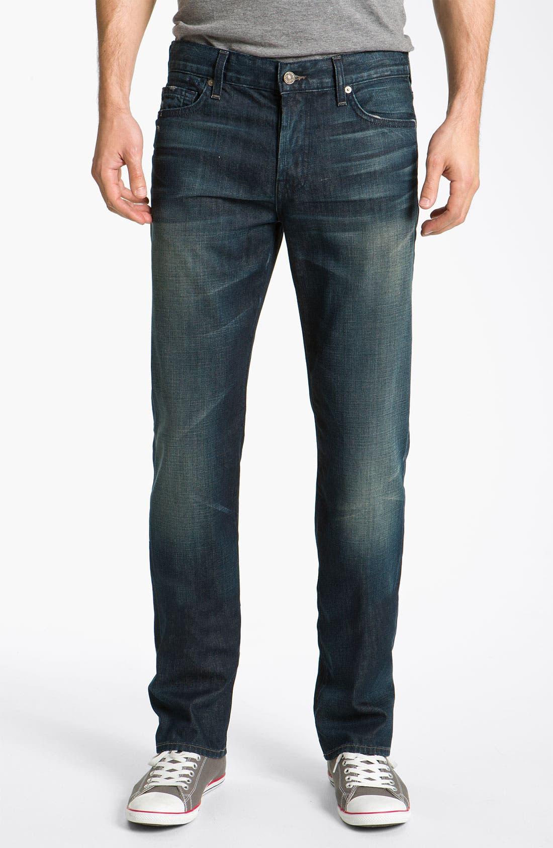 Alternate Image 2  - 7 For All Mankind® Standard Straight Leg Jeans (Cedar Street)