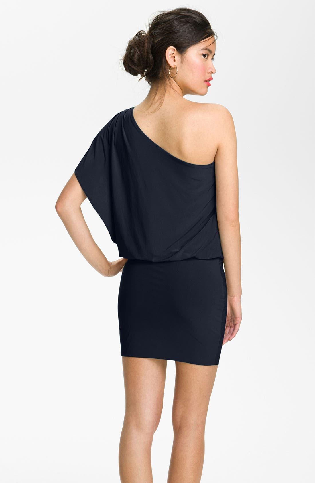 Alternate Image 2  - Soprano 'Mia' One Shoulder Dress (Juniors)