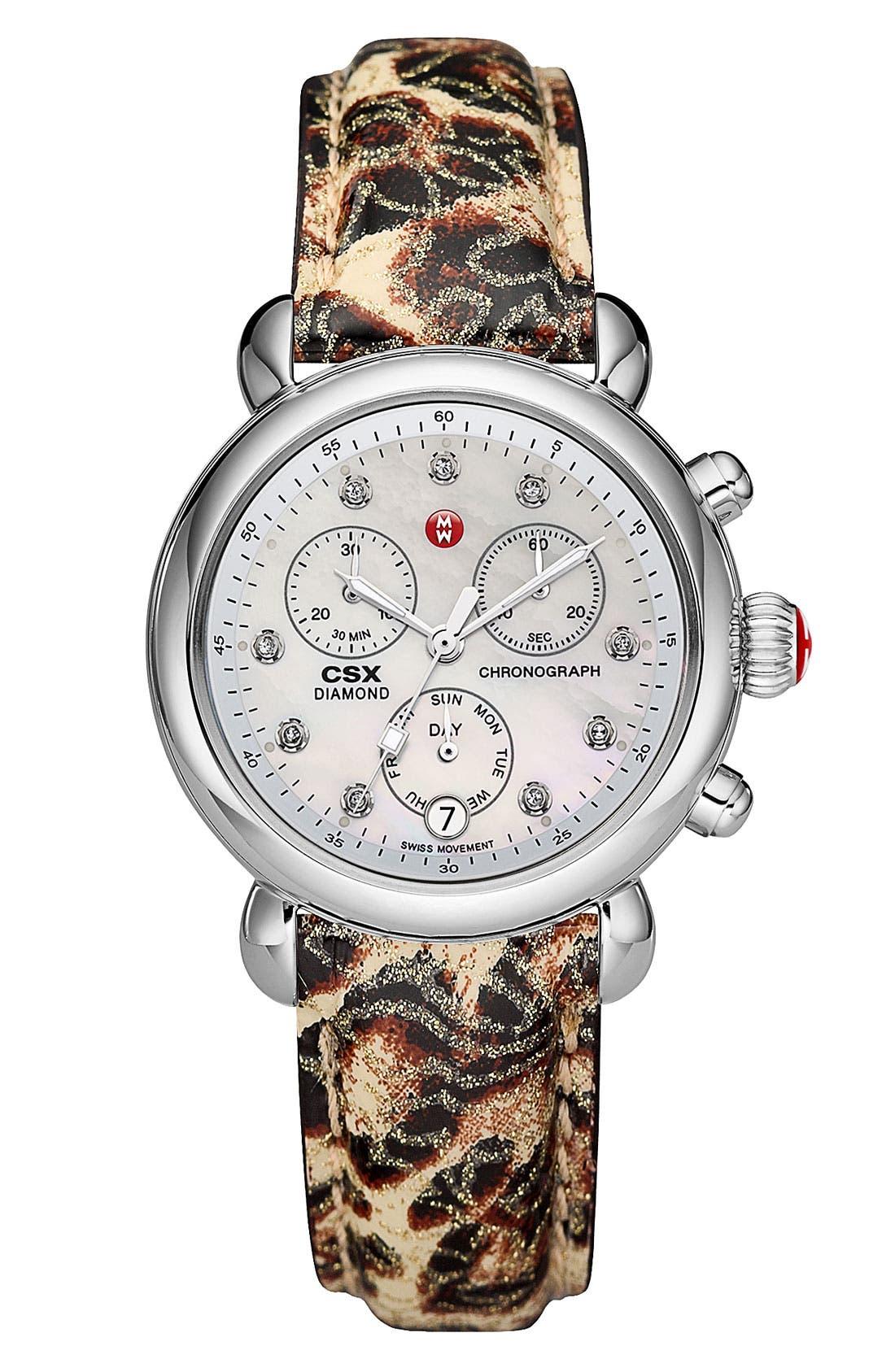 Alternate Image 2  - MICHELE 18mm Patent Watch Strap