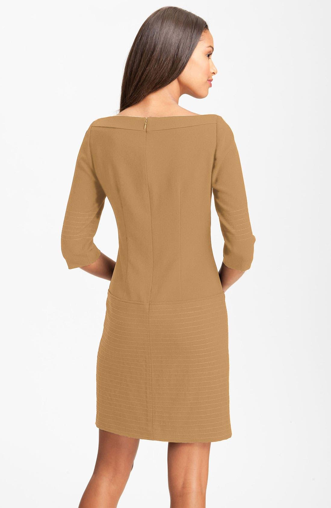 Alternate Image 2  - Jessica Simpson Trapunto Stitch Shift Dress (Online Exclusive)