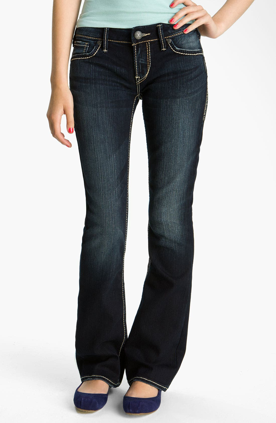 Alternate Image 2  - Silver Jeans Co. 'Aiko' Bootcut Jeans (Juniors)