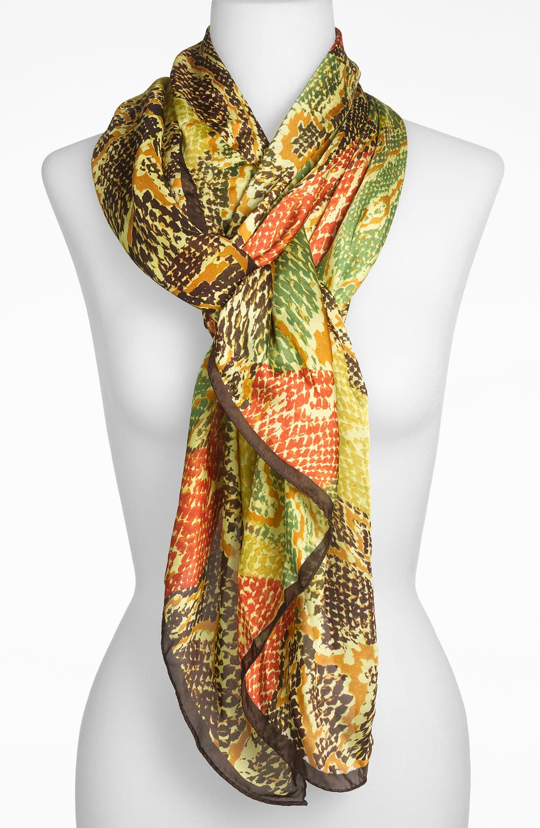 Main Image - Collection XIIX 'Patchwork Snake' Oblong Scarf