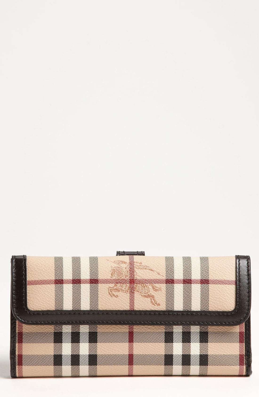Main Image - Burberry 'Haymarket Check' Checkbook Wallet