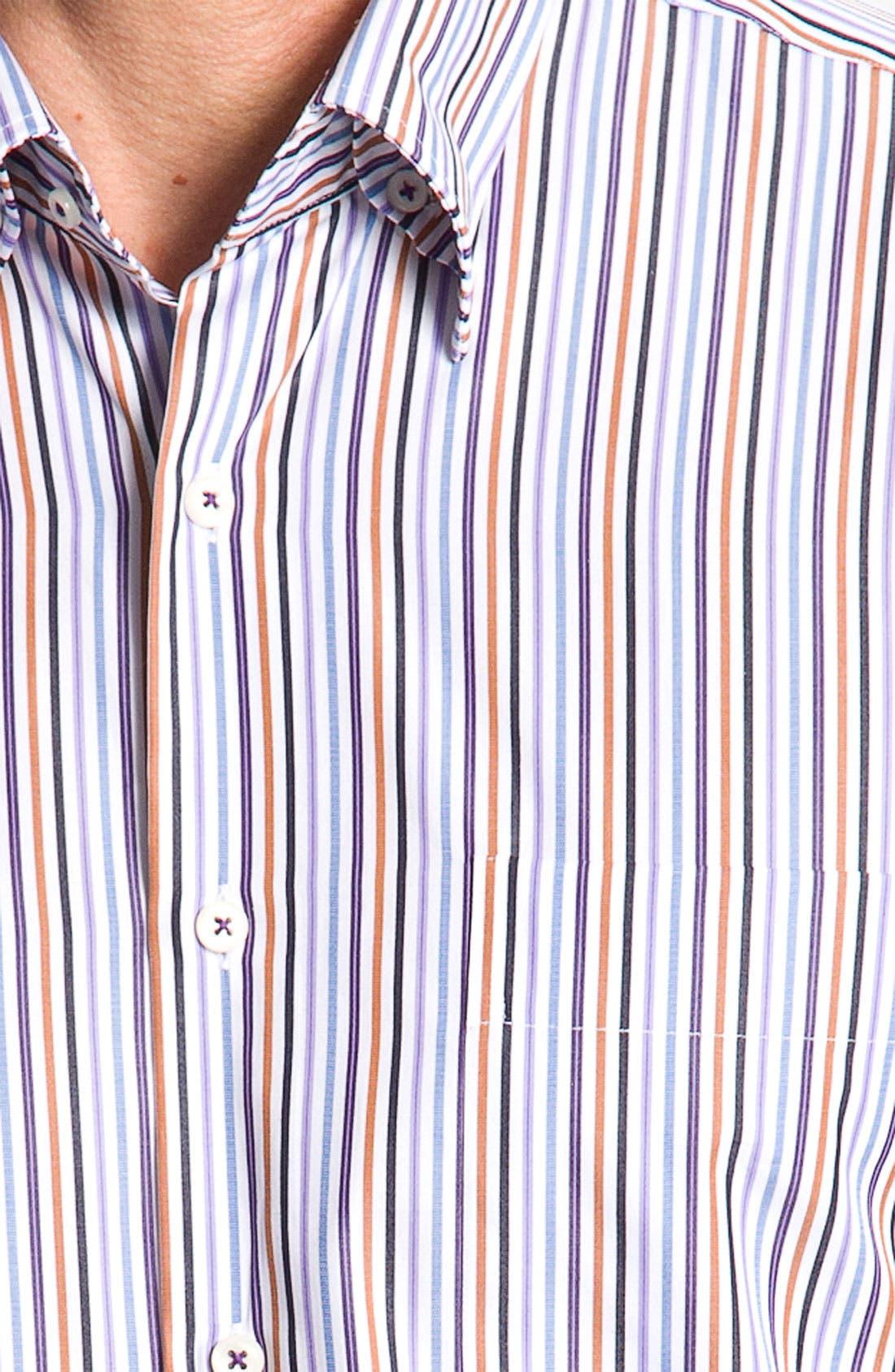 Alternate Image 3  - Peter Millar 'Pinwheel Stripe' Sport Shirt