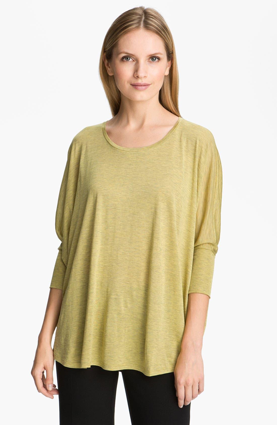 Main Image - Eileen Fisher Silk & Cotton Jersey Top