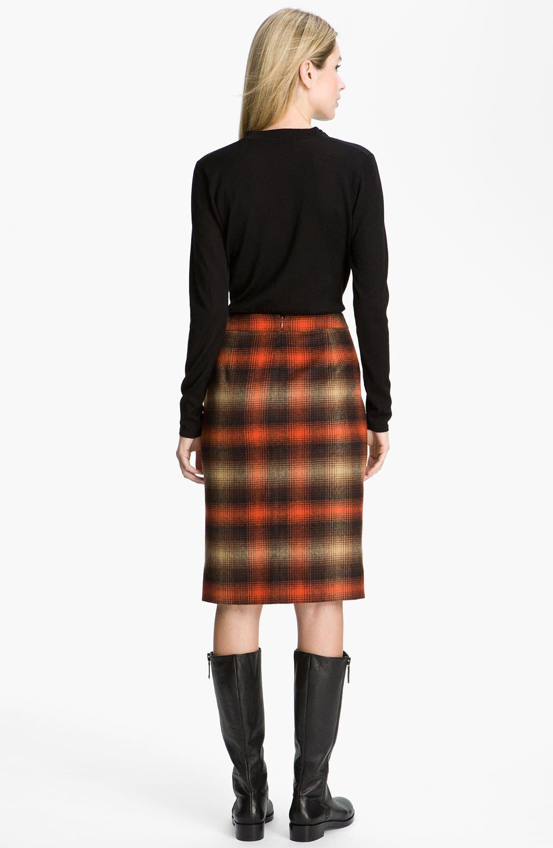 Alternate Image 5  - Classiques Entier® 'Felise' Plaid Pencil Skirt
