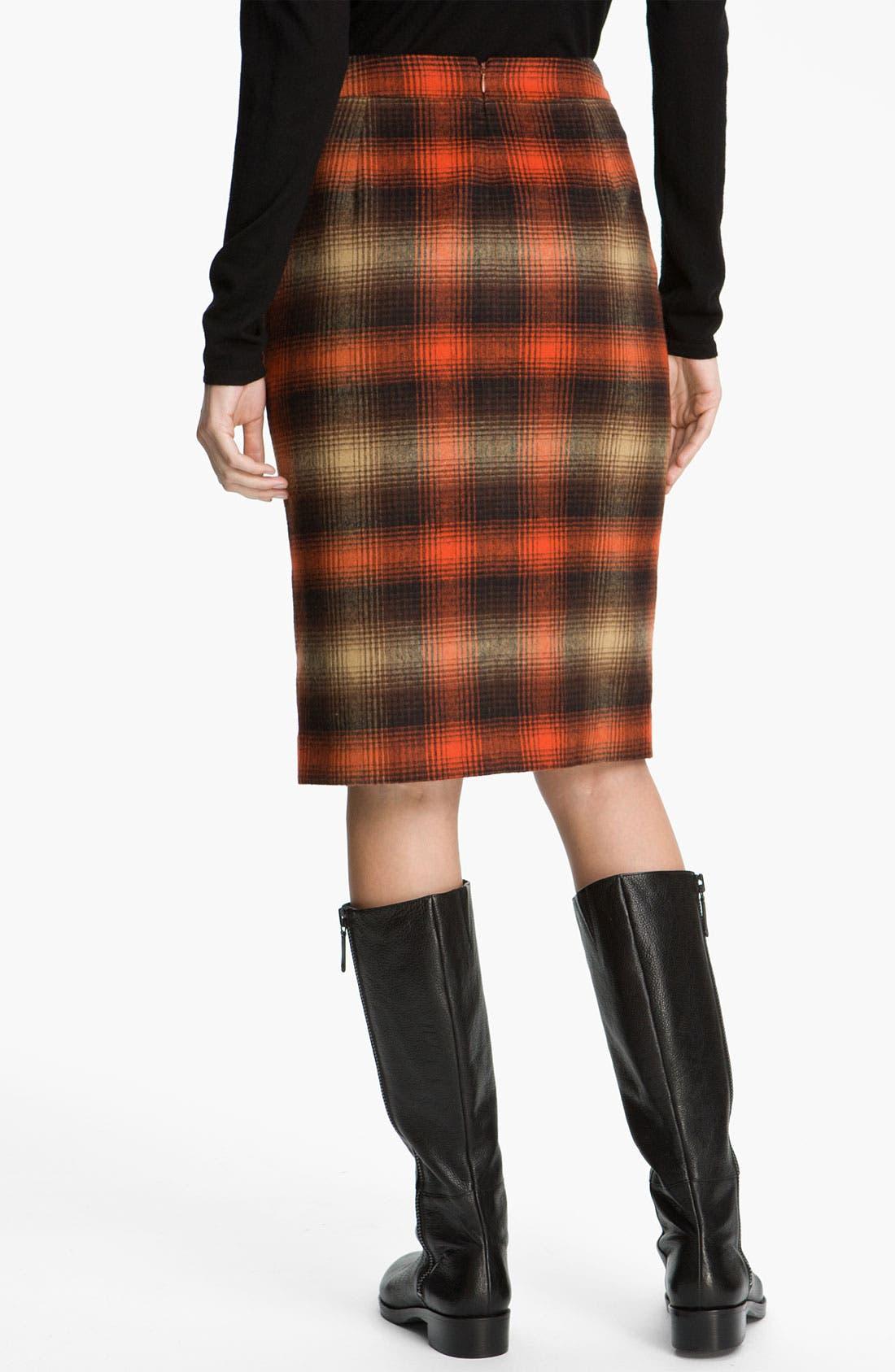 Alternate Image 2  - Classiques Entier® 'Felise' Plaid Pencil Skirt