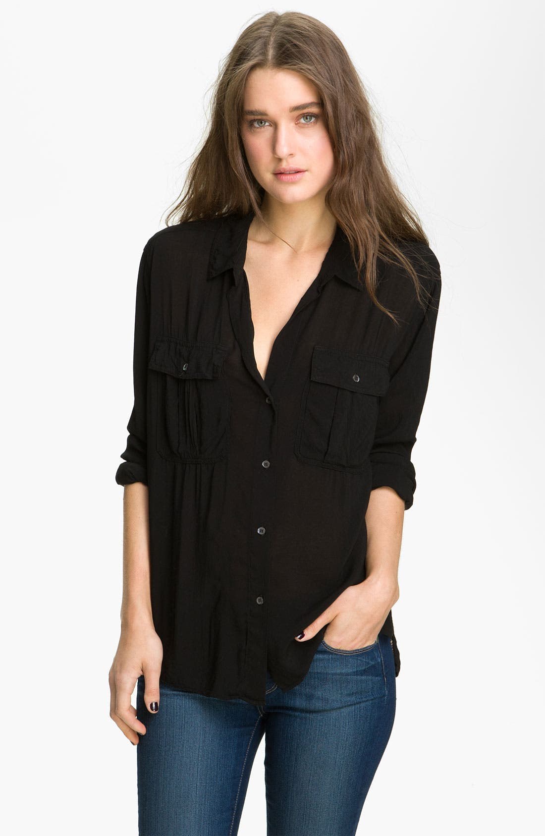 Alternate Image 1 Selected - James Perse Slouchy Pocket Shirt