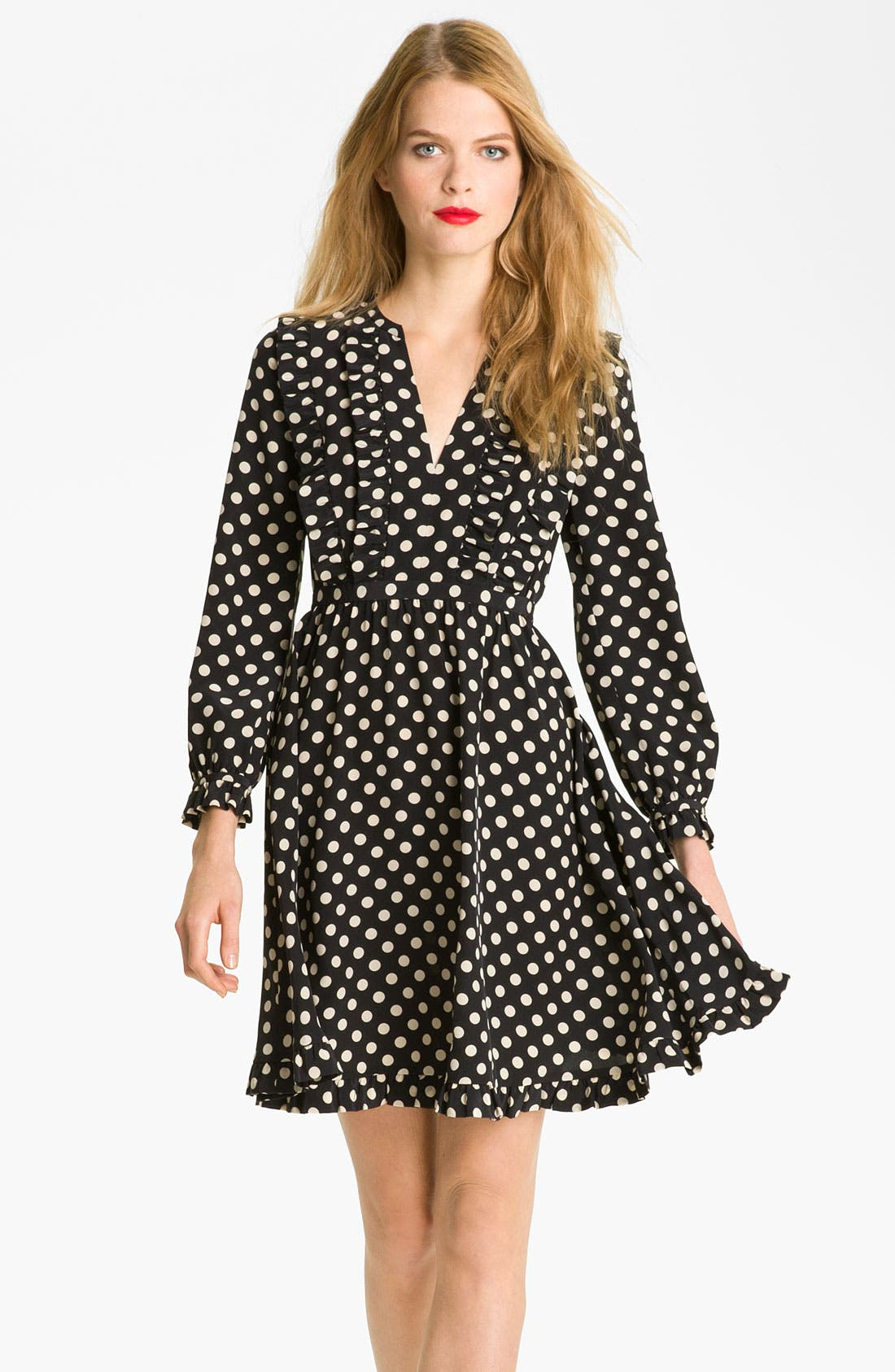 Alternate Image 1 Selected - kate spade new york 'adelle' silk fit & flare dress