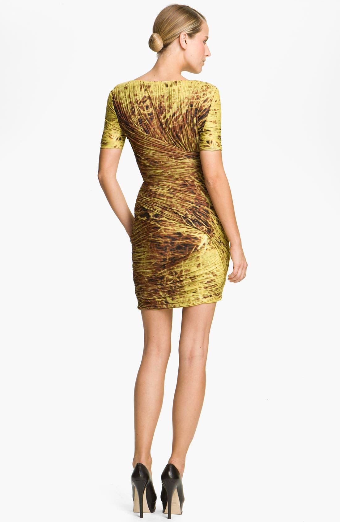 Alternate Image 2  - Halston Heritage Dresses Print Pleated Dress