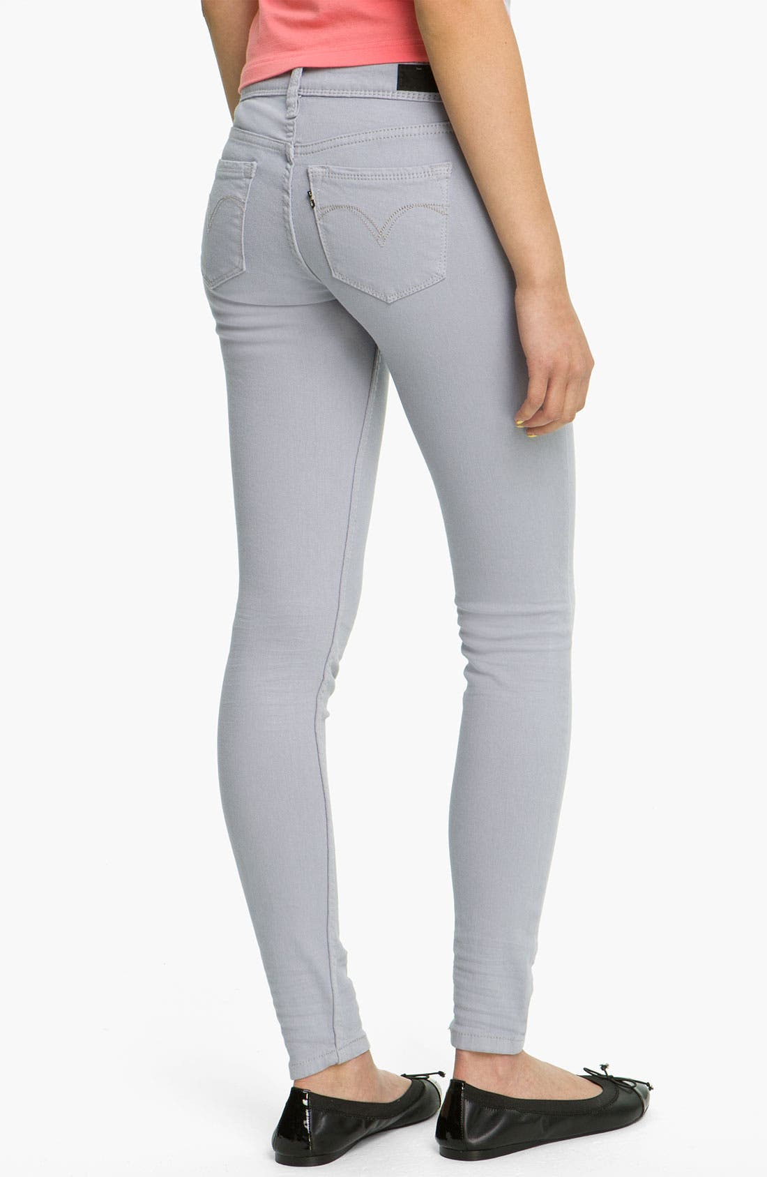 Alternate Image 1 Selected - Levi's® Overdyed Denim Leggings (Purple Sage)