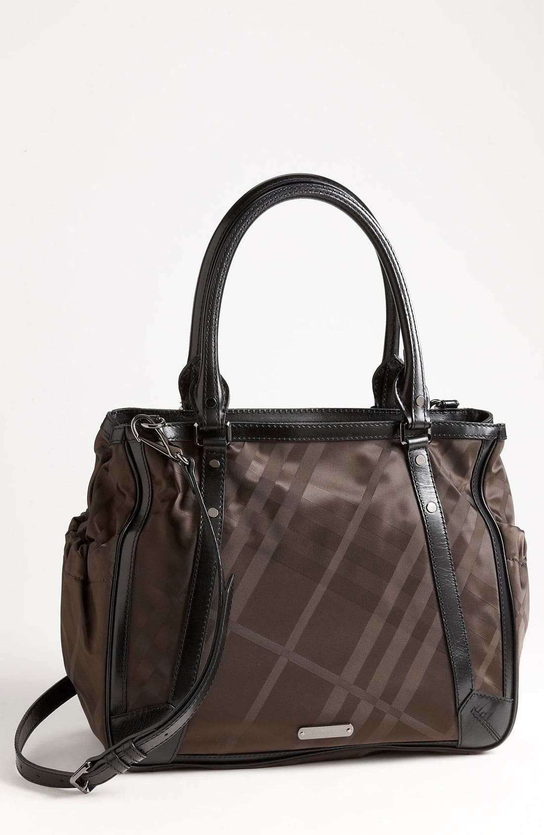 Main Image - Burberry Check Print Diaper Bag