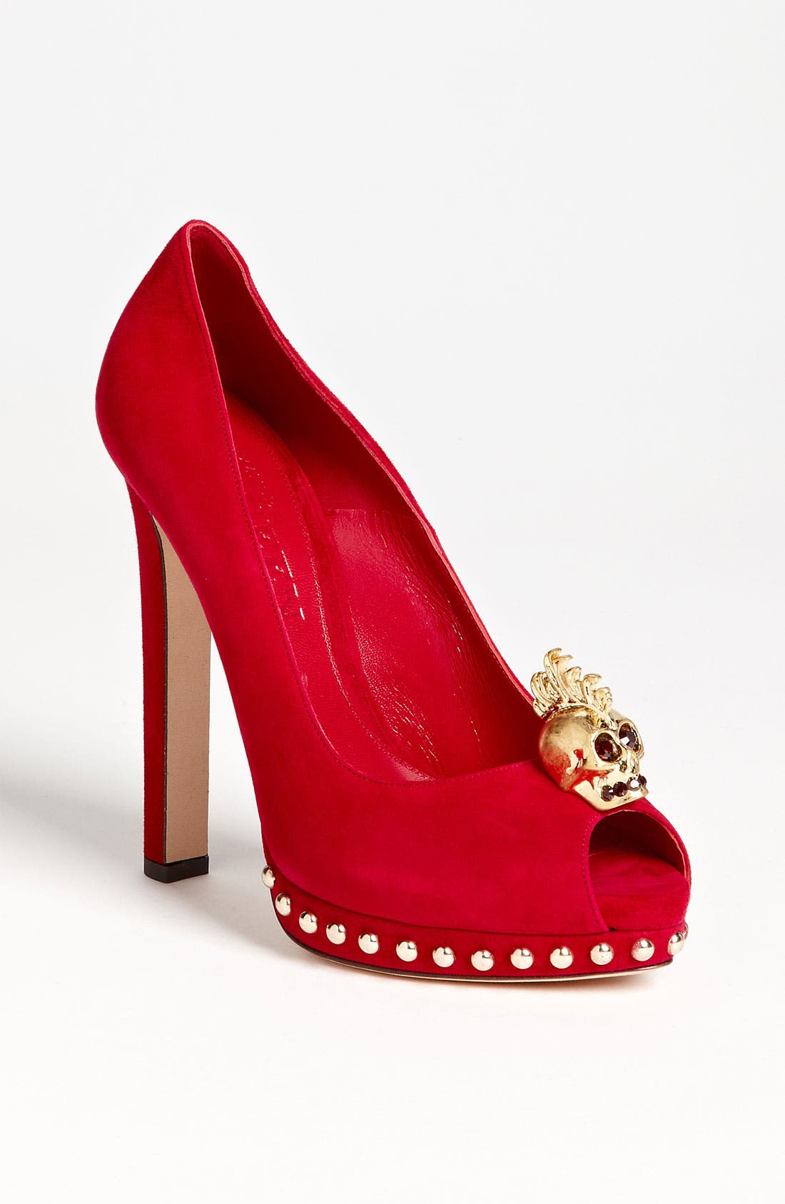 Alternate Image 1 Selected - Alexander McQueen Open Toe Skull Pump