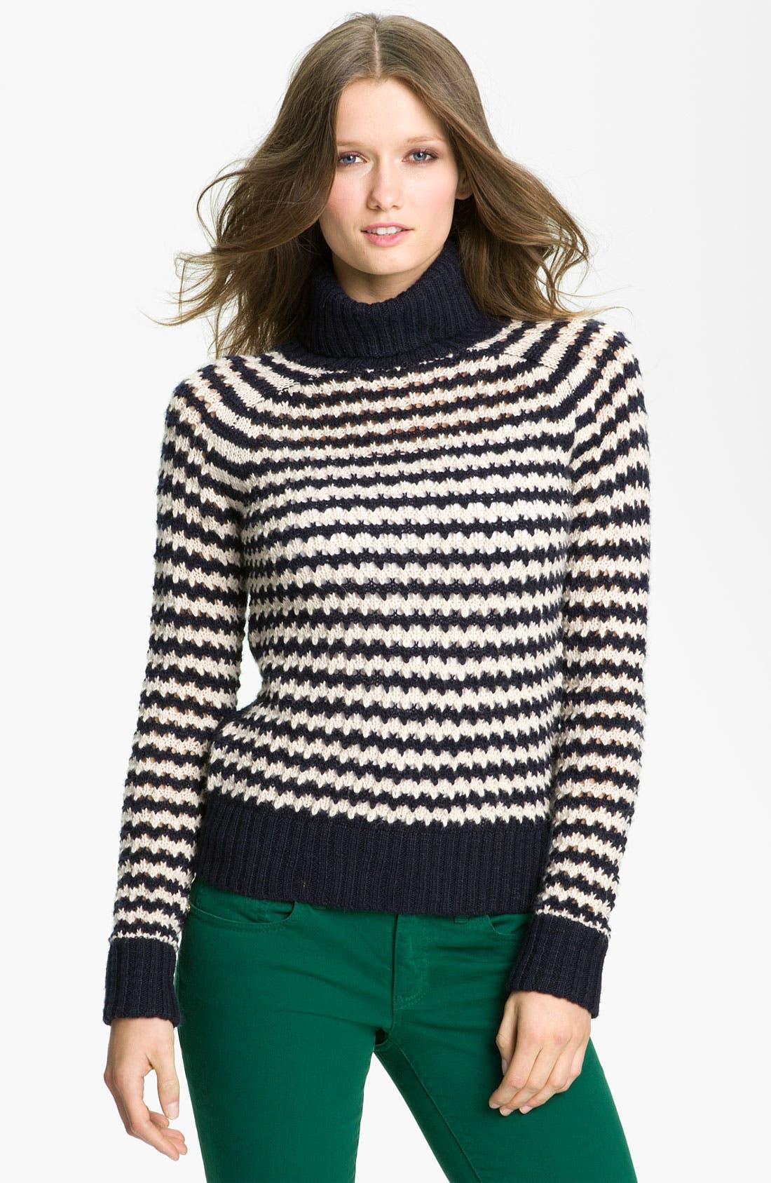 Alternate Image 1 Selected - Tory Burch 'Carey' Turtleneck Sweater