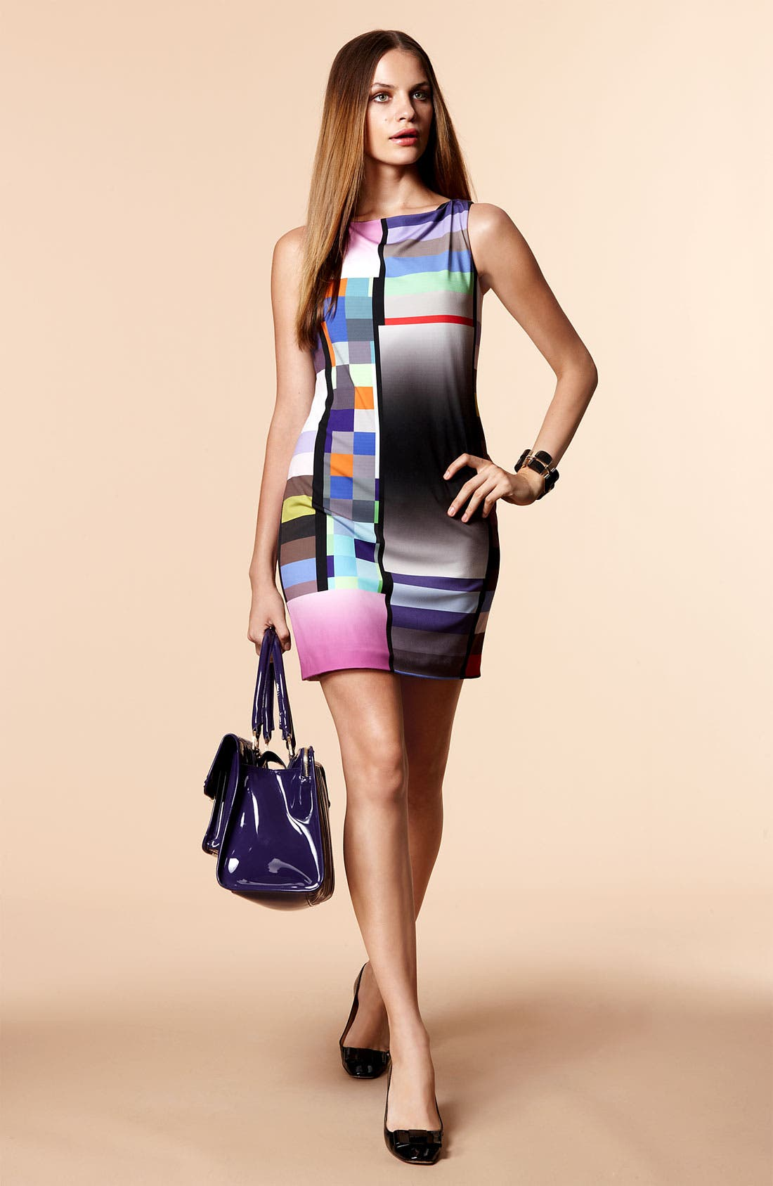 Alternate Image 4  - Suzi Chin for Maggy Boutique Graphic Print Jersey Shift Dress