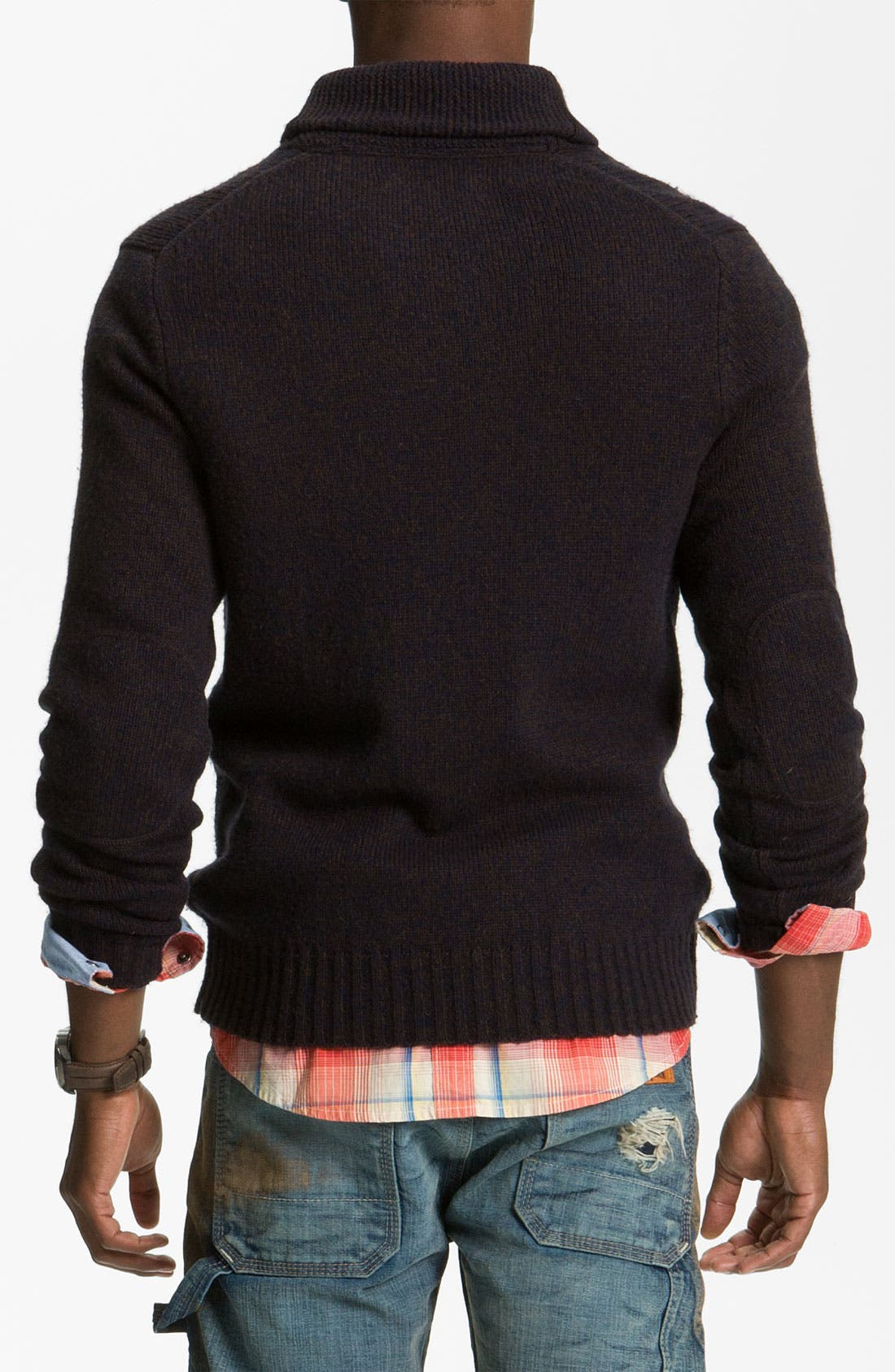 Alternate Image 2  - PLECTRUM by Ben Sherman Cable Knit Shawl Collar Sweater