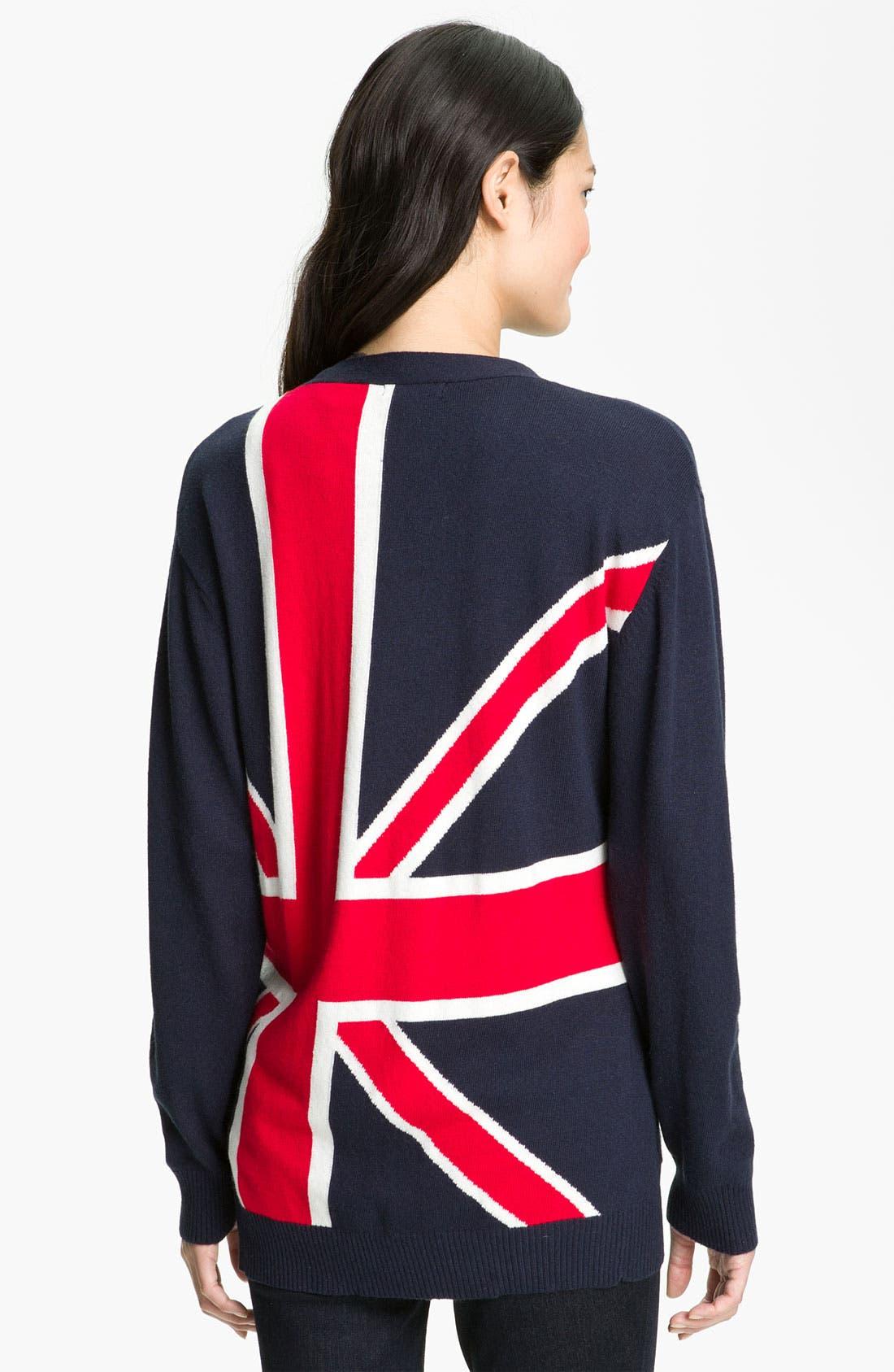 Main Image - Press 'British Intarsia' Snap Front Cardigan