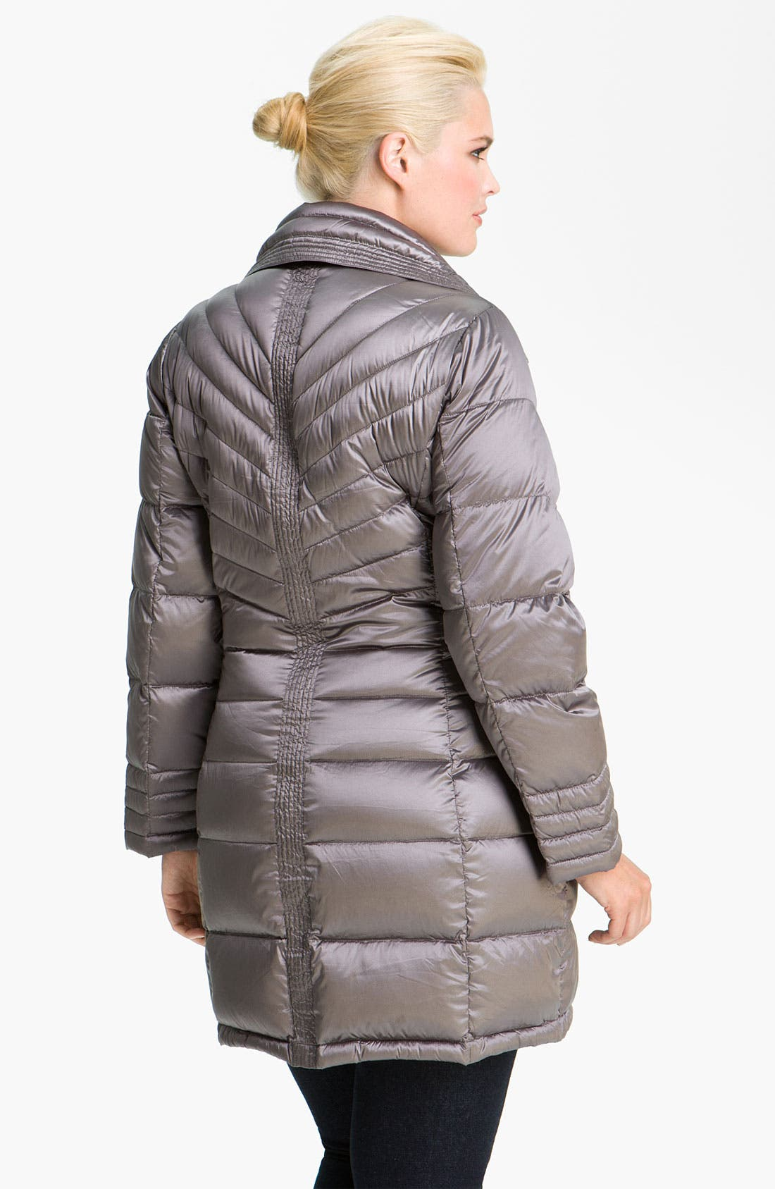 Alternate Image 2  - Bernardo Packable Down Walking Coat (Plus)