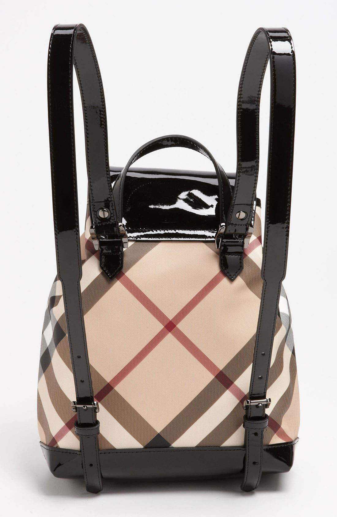 Alternate Image 4  - Burberry 'House Check' Backpack (Girls)