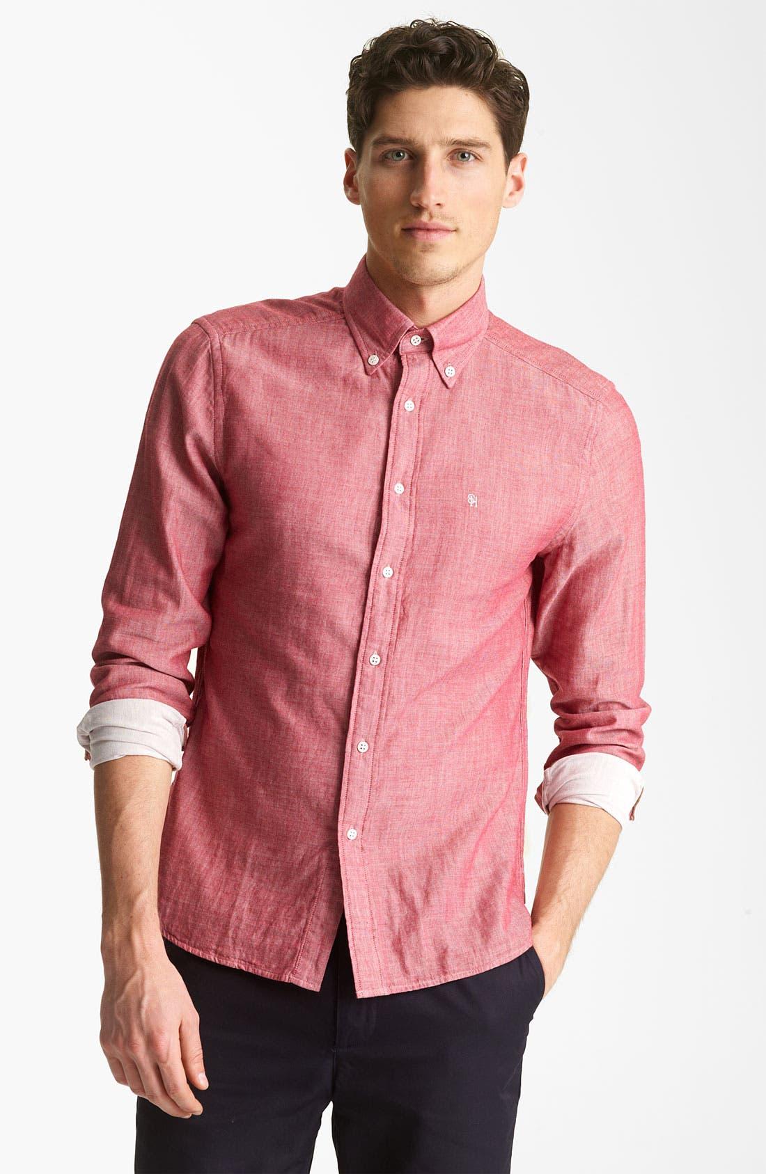 Alternate Image 1 Selected - Shipley & Halmos 'Booster' Chambray Shirt