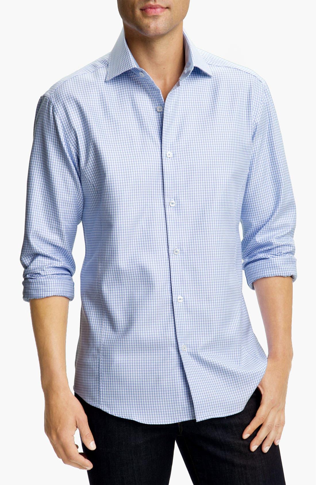 Main Image - Bugatchi Uomo Shaped Fit Sport Shirt