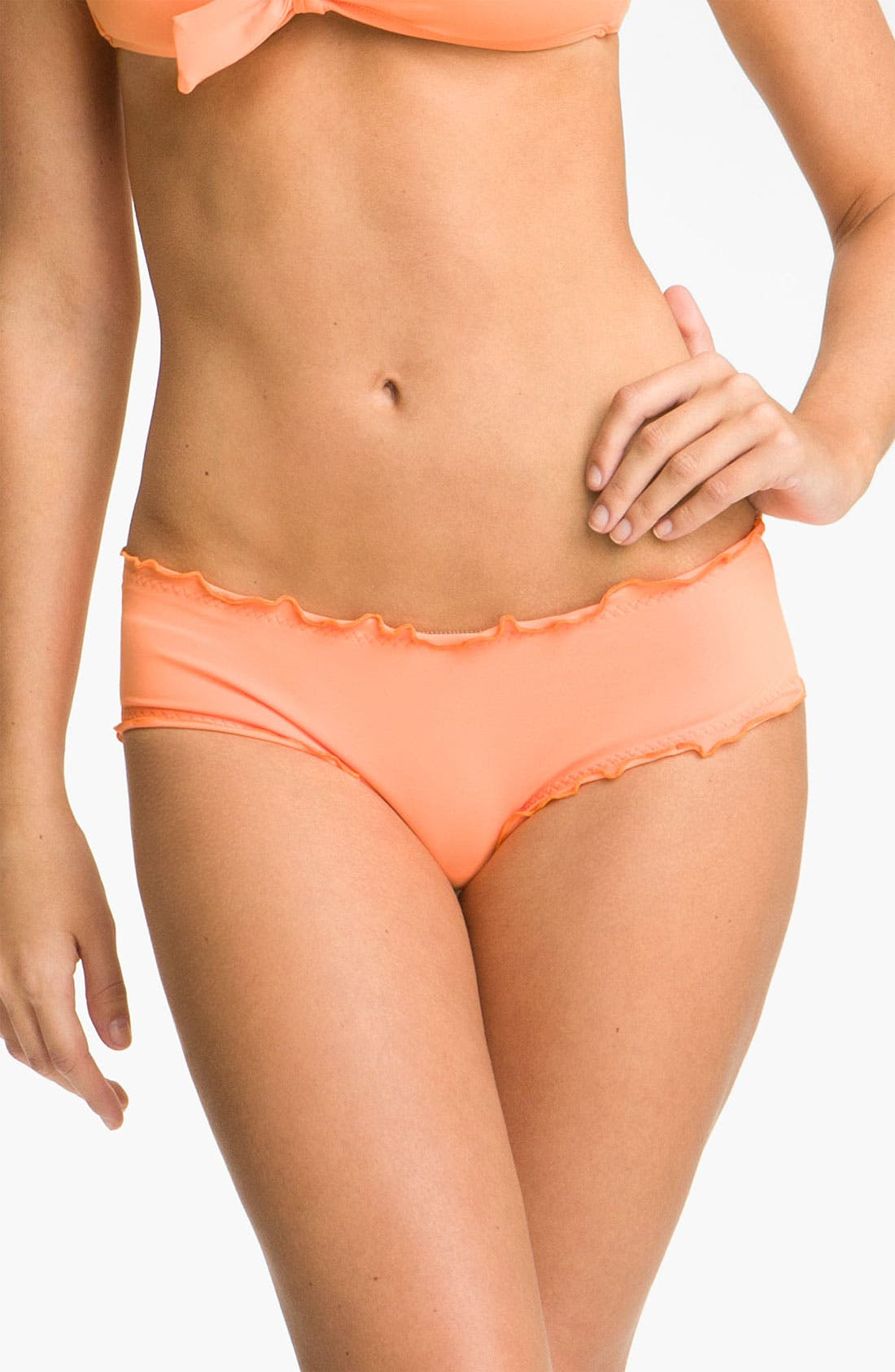 Alternate Image 1 Selected - Vitamin A® 'Rio' Ruffled Low Rise Bikini Bottoms