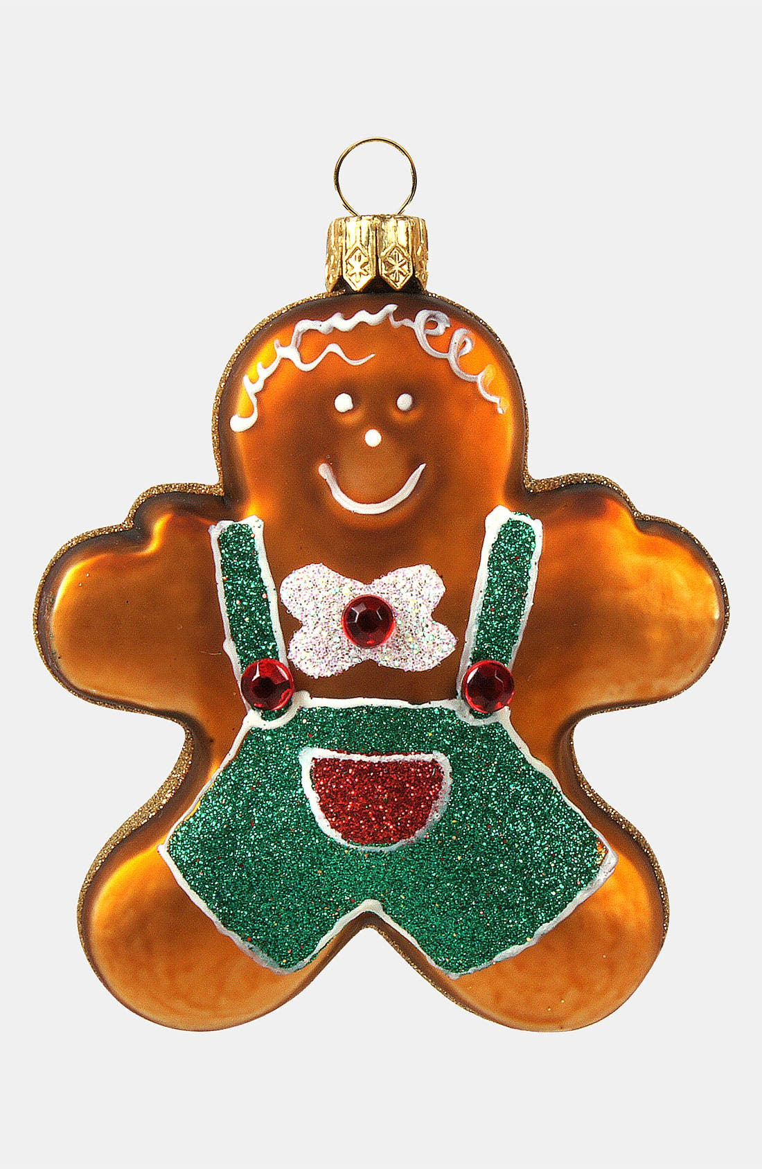 Main Image - Nordstrom at Home 'Gingerbread Boy' Glass Ornament