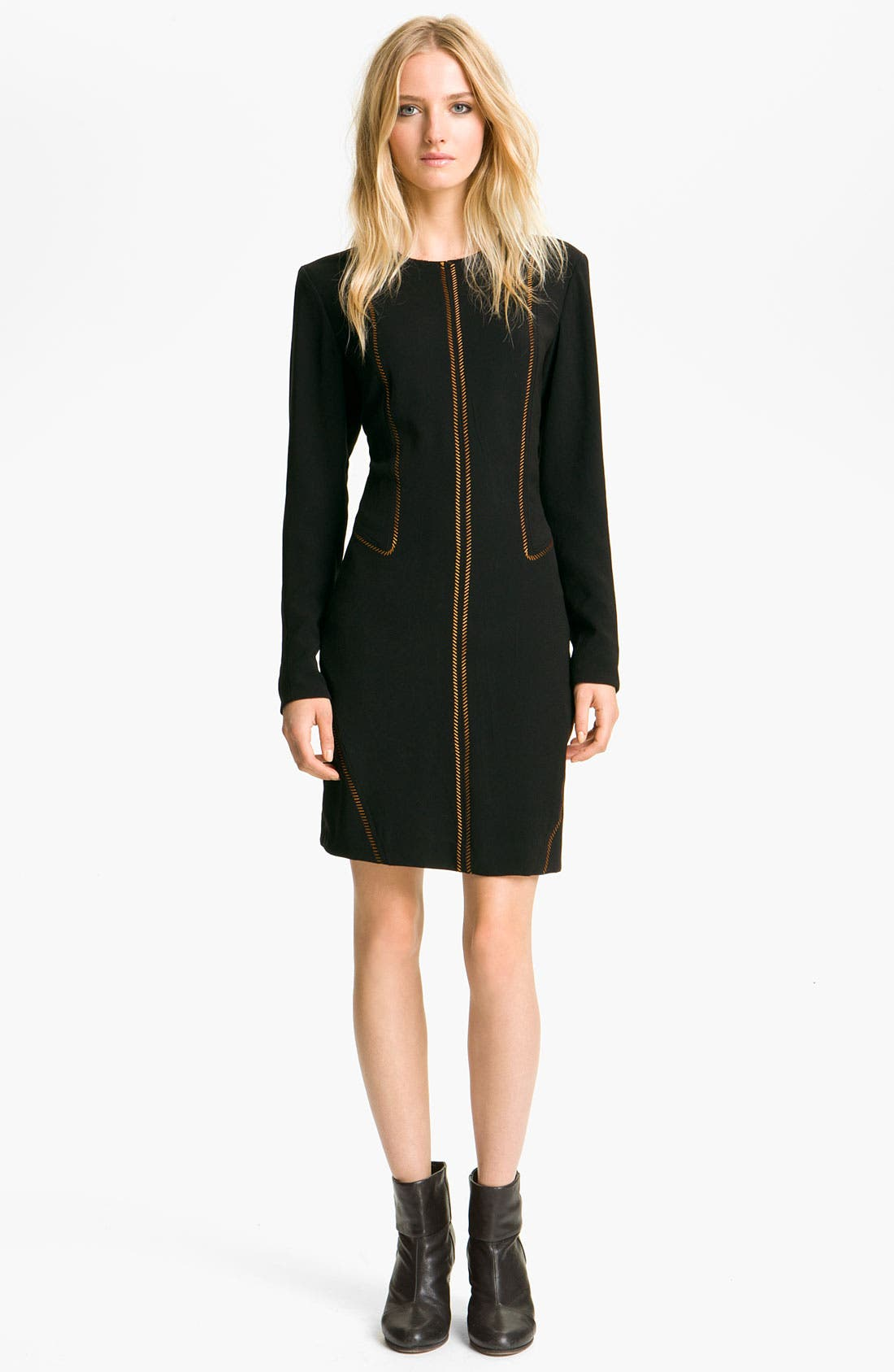 Main Image - rag & bone 'Raj' Metallic Seam Dress