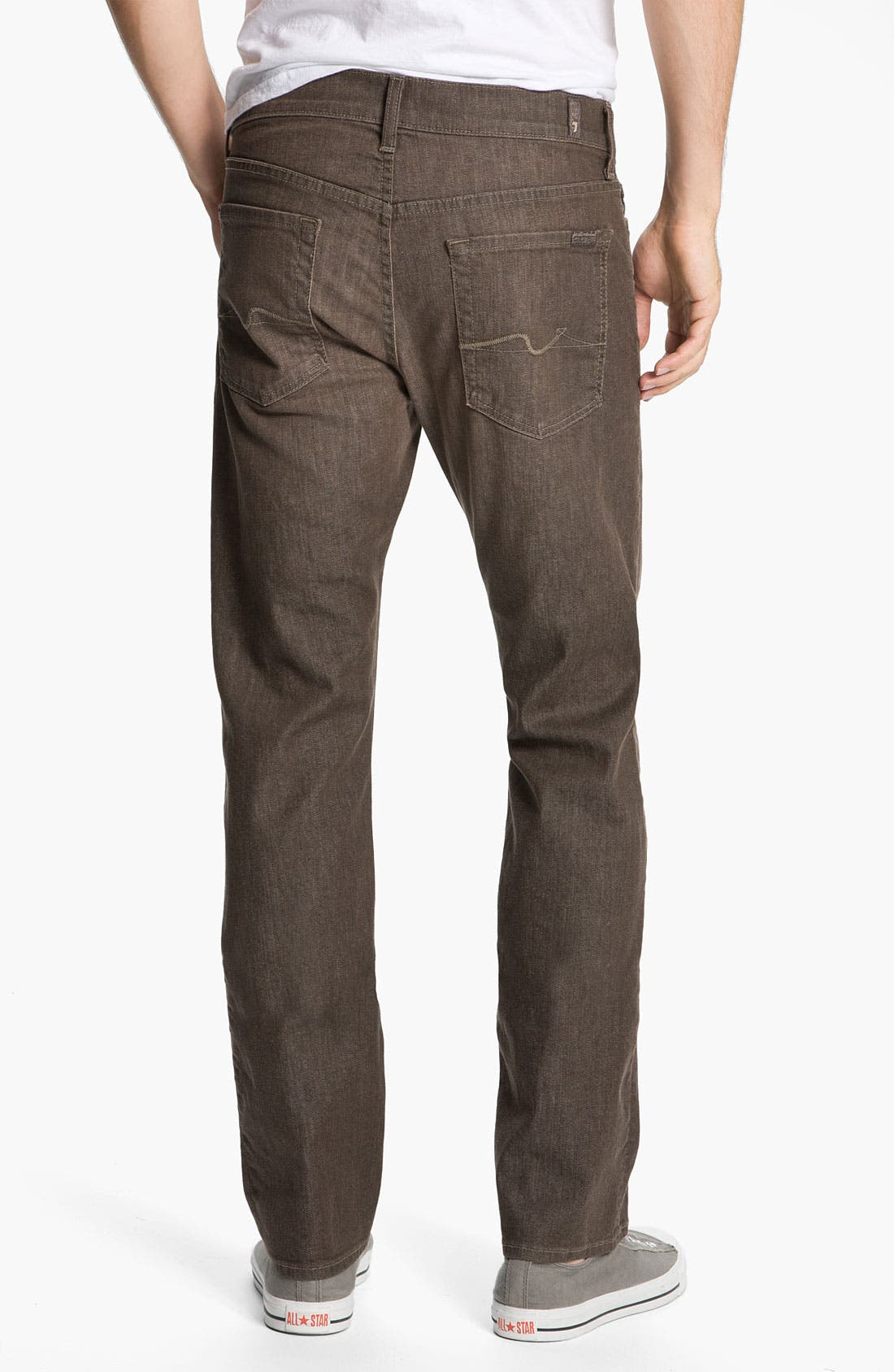 Main Image - 7 For All Mankind® Standard Straight Leg Jeans (Kings Canyon)