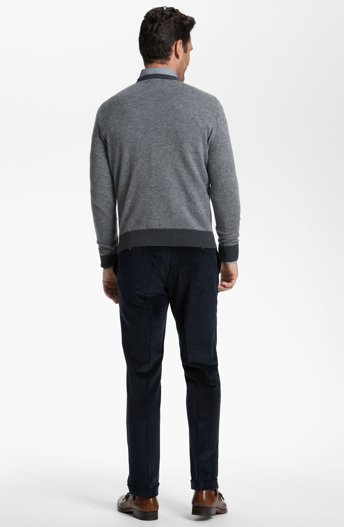 Alternate Image 2  - Canali V-Neck Wool Sweater