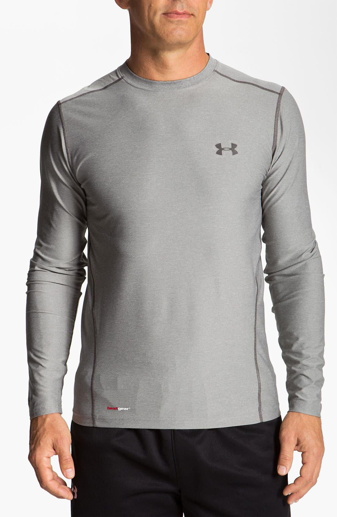 Main Image - Under Armour HeatGear™ Fitted Long Sleeve T-Shirt (Online Exclusive)