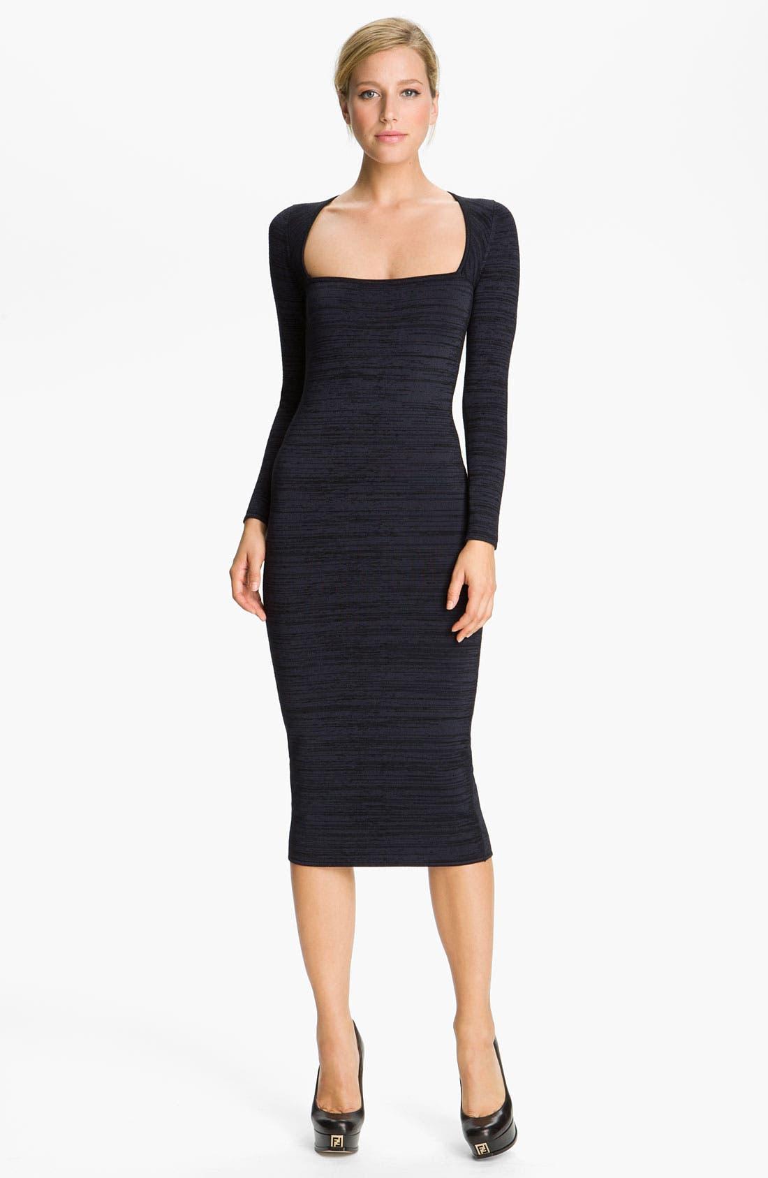 Alternate Image 1 Selected - A.L.C. 'Ree' Square Neck Dress