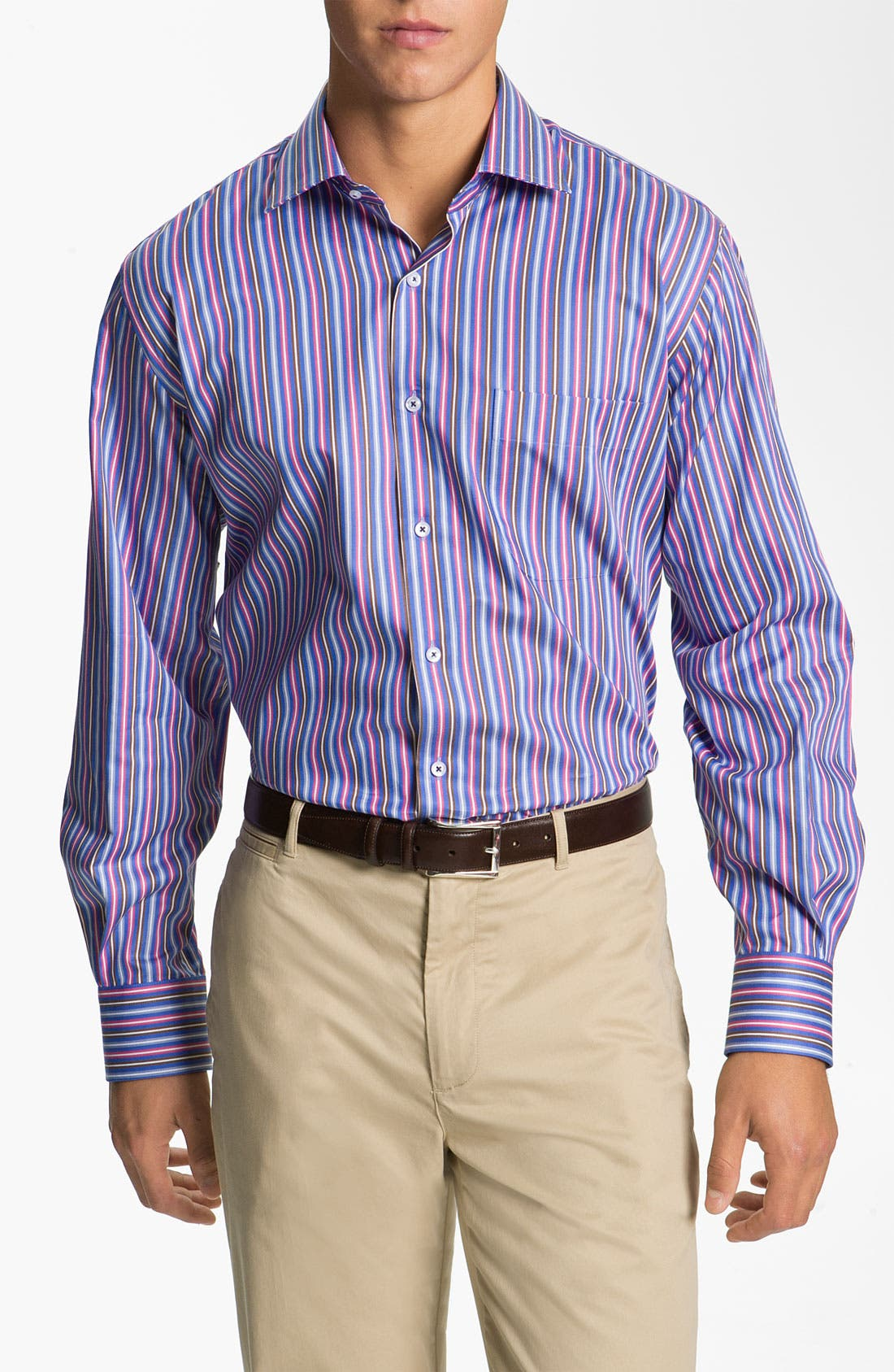 Alternate Image 1 Selected - Peter Millar 'Pop Stripe' Sport Shirt