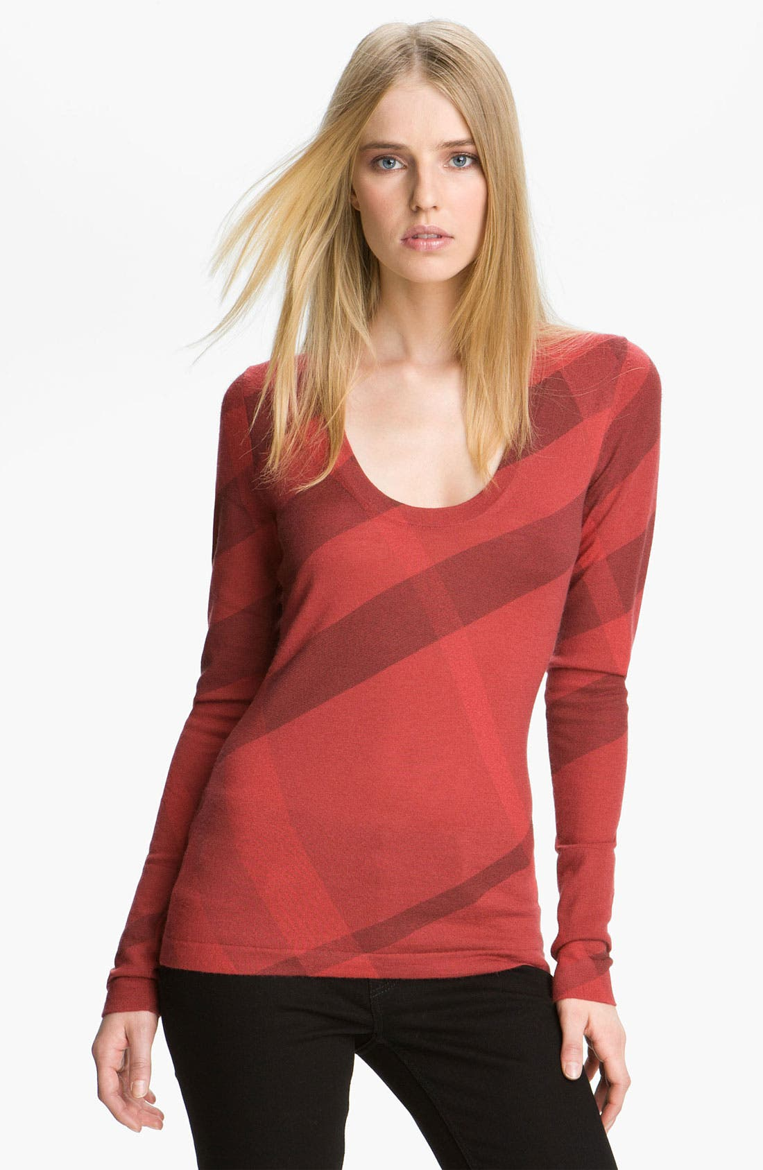 Main Image - Burberry Brit Scoop Neck Merino Wool & Cashmere Sweater
