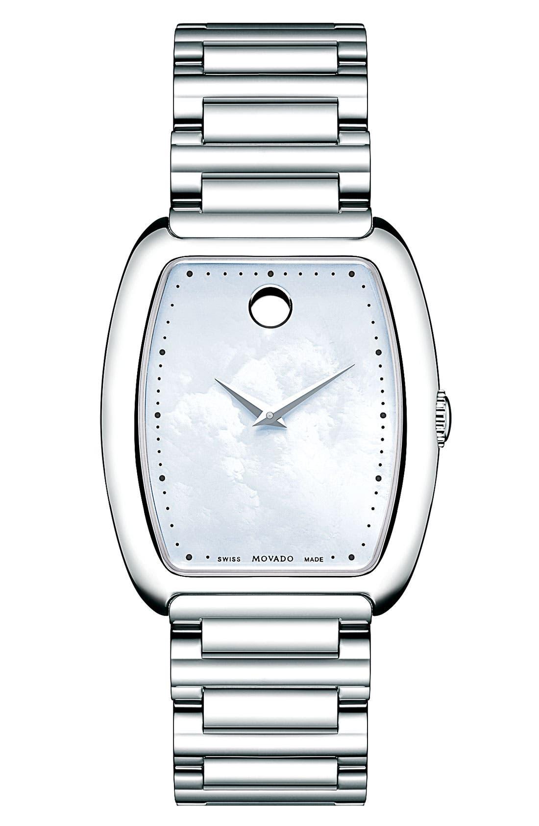 Main Image - Movado 'Concerto' Tonneau Bracelet Watch