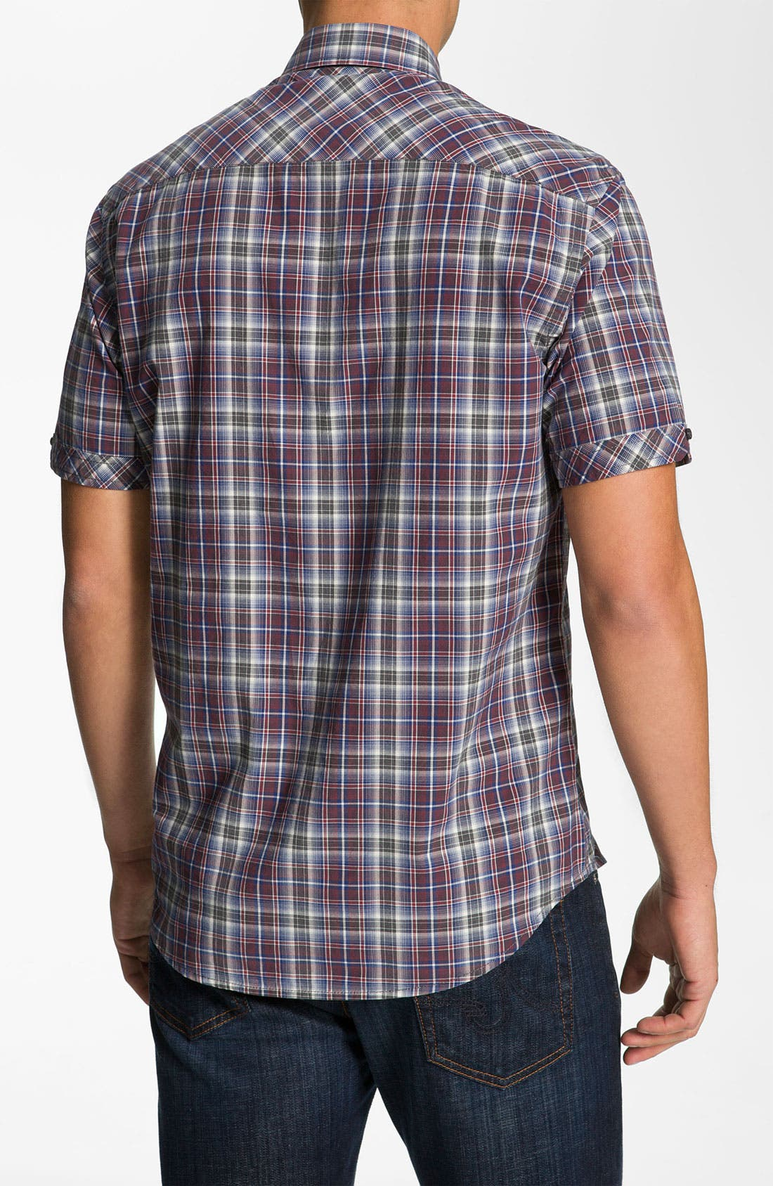 Alternate Image 2  - James Campbell 'Wells' Plaid Sport Shirt