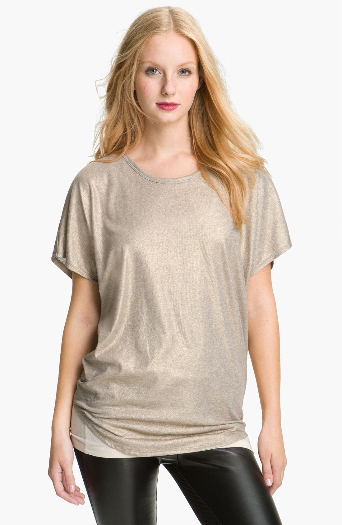 Main Image - Two by Vince Camuto Slouchy Foil Tee